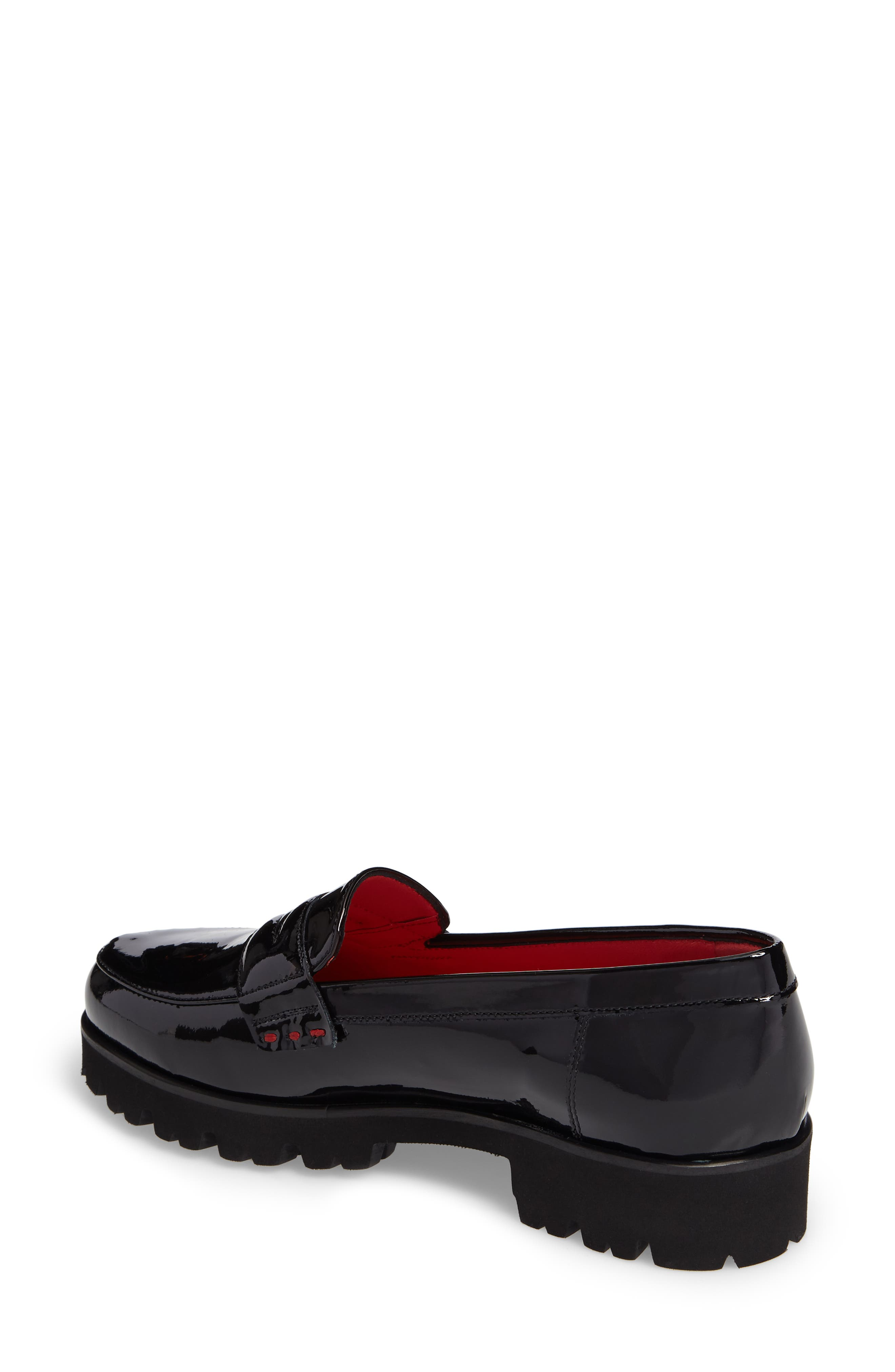 Classic Penny Loafer,                             Alternate thumbnail 2, color,                             BLACK PATENT LEATHER