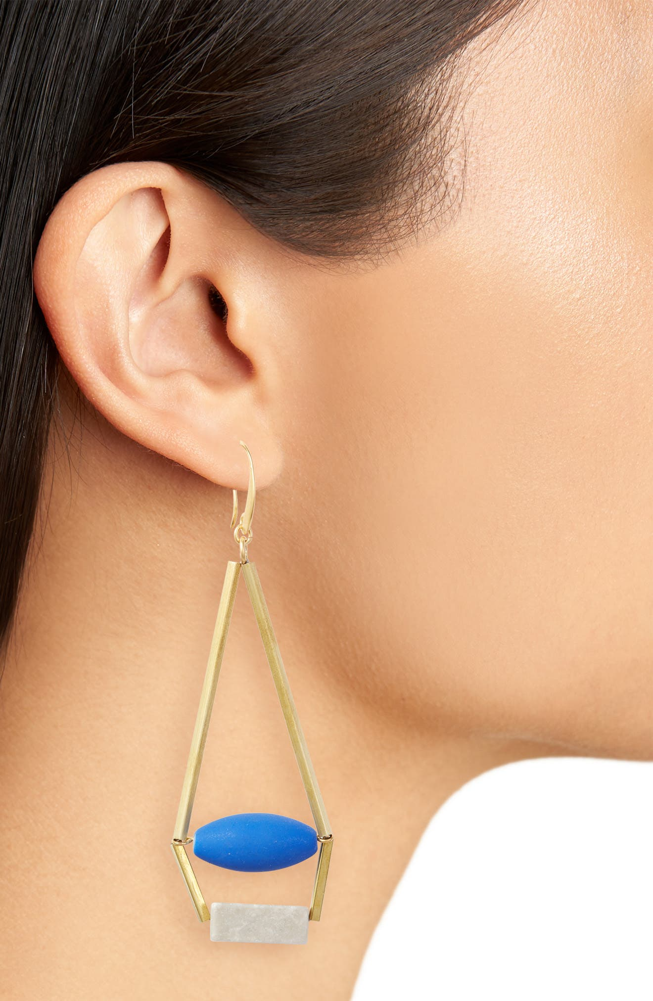 Uma Royal Structure Earrings,                             Alternate thumbnail 3, color,                             400
