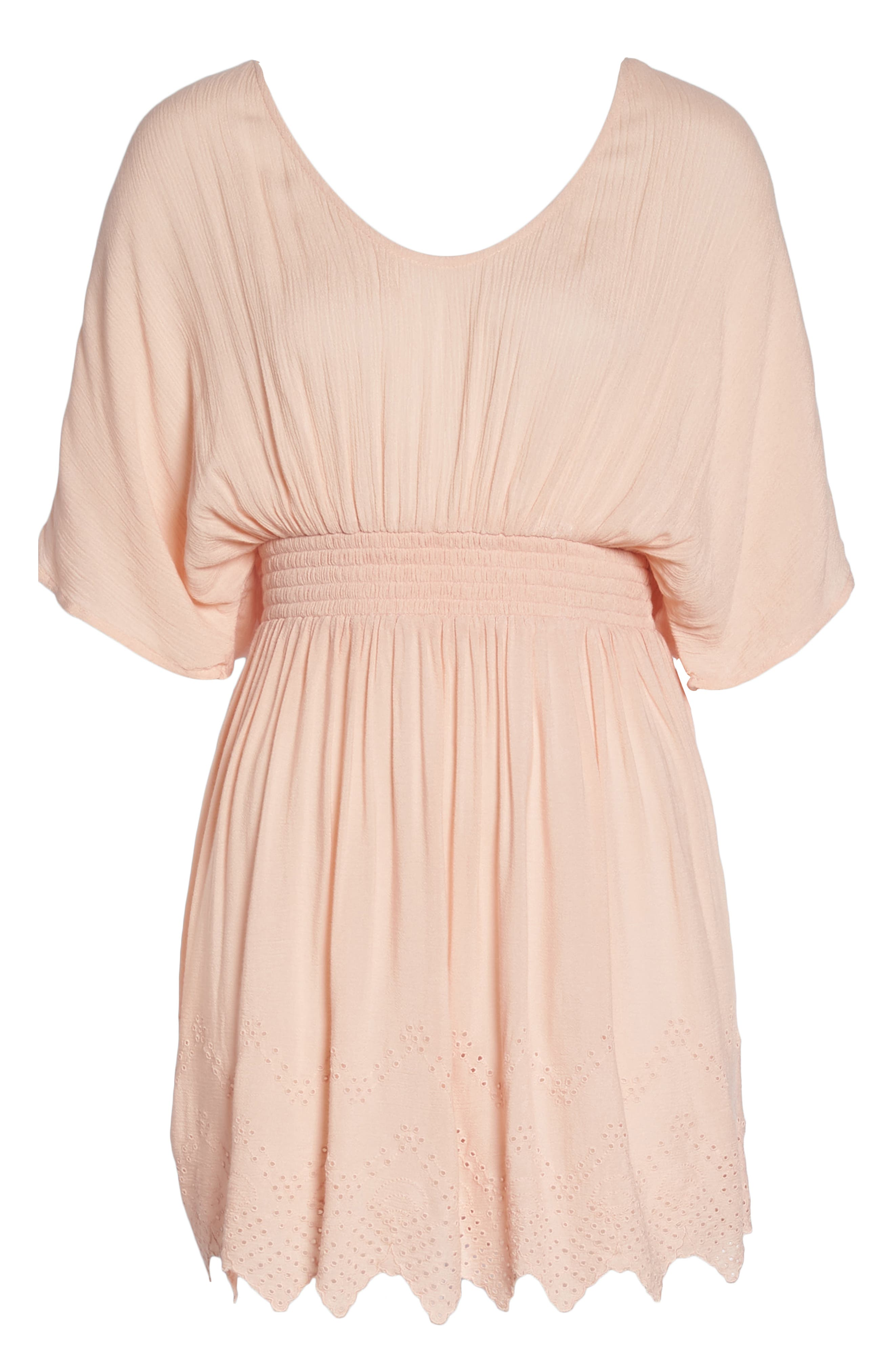 Goddess Cover-Up Dress,                             Alternate thumbnail 6, color,                             PINK ROSECLOUD