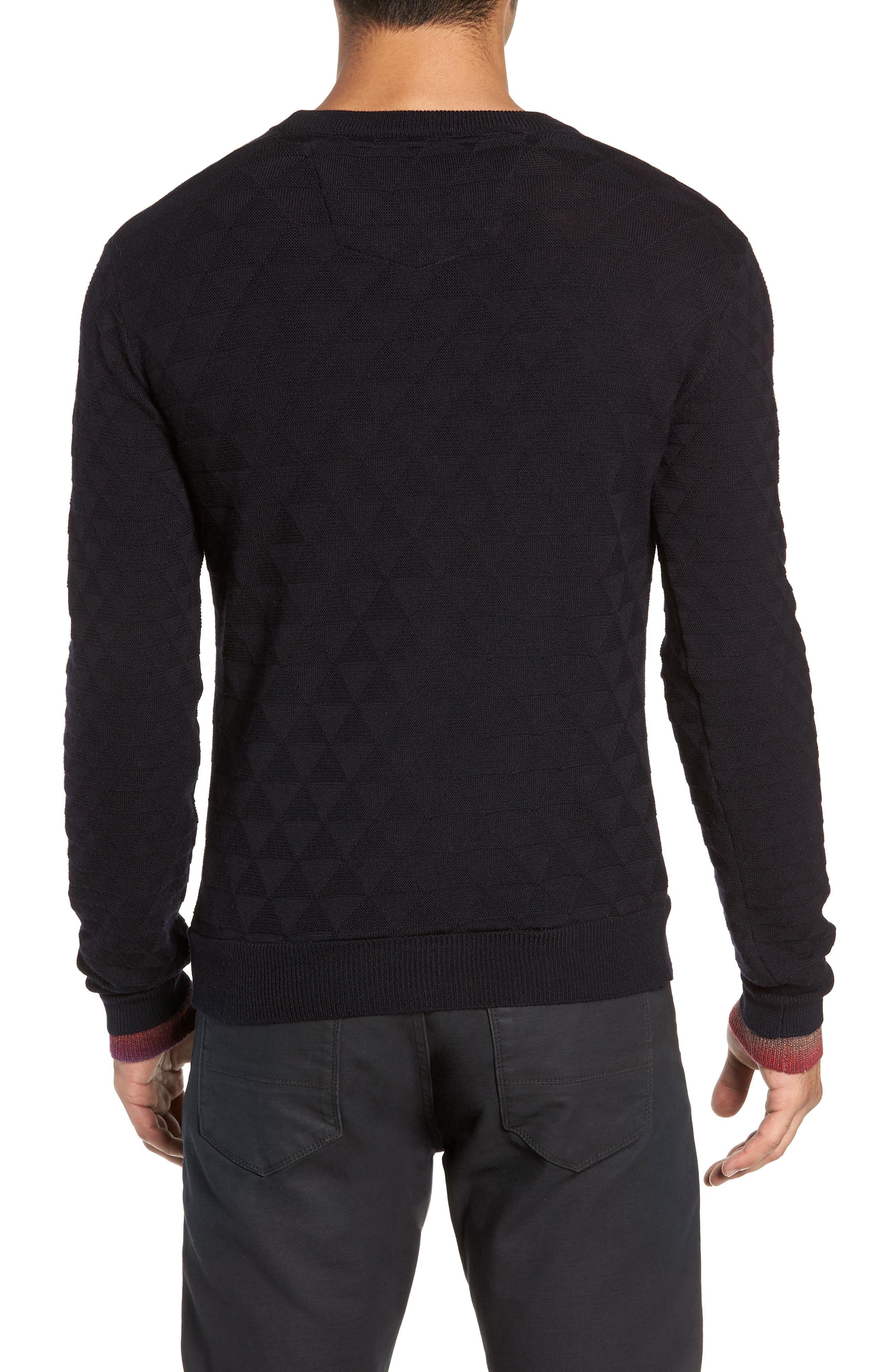 Blackburn Classic Fit Sweater,                             Alternate thumbnail 2, color,                             BLACK
