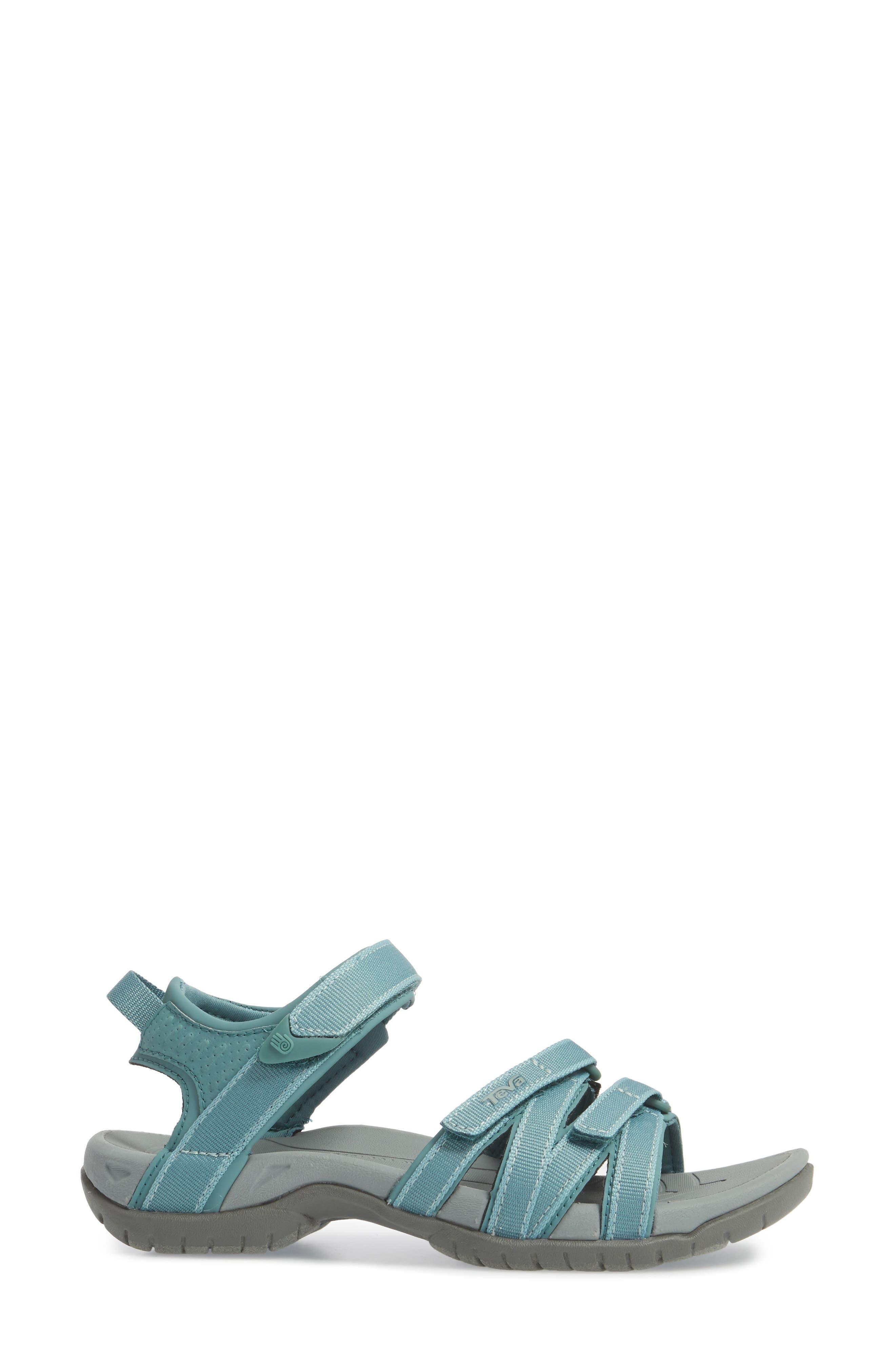 'Tirra' Sandal,                             Alternate thumbnail 3, color,                             NORTH ATLANTIC