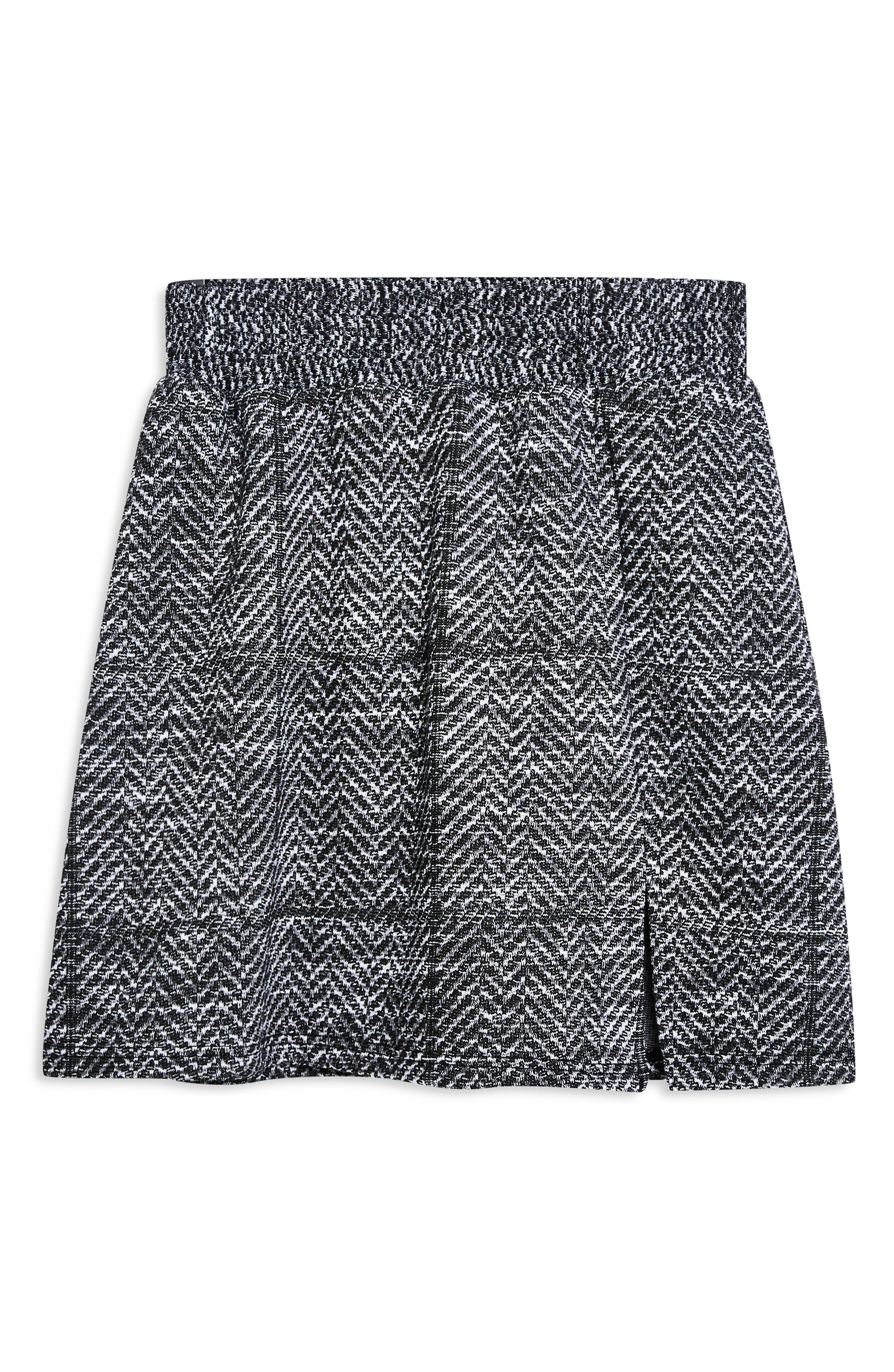 Herringbone Miniskirt,                             Alternate thumbnail 3, color,                             020
