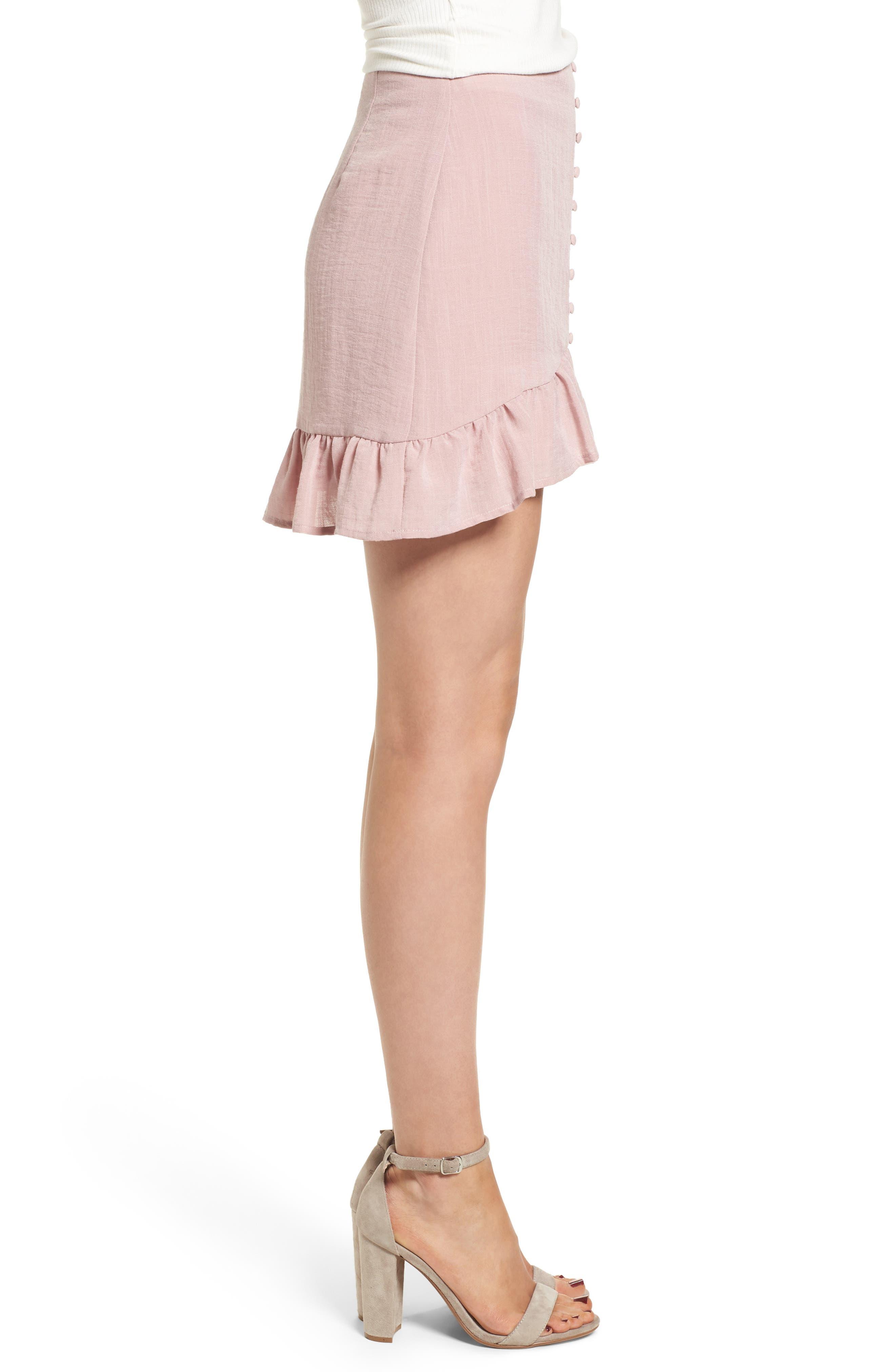 Peony Ruffle Hem Skirt,                             Alternate thumbnail 3, color,                             681