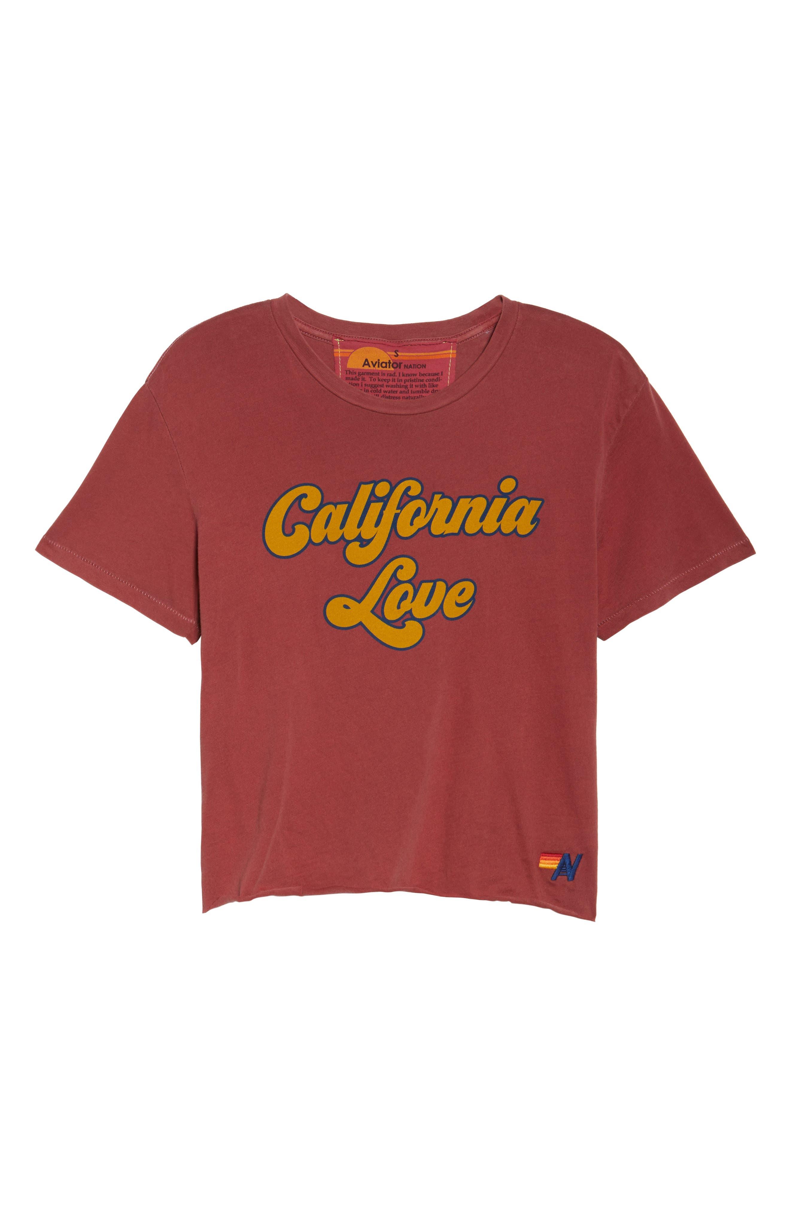 California Love Boyfriend Tee,                             Alternate thumbnail 7, color,                             600