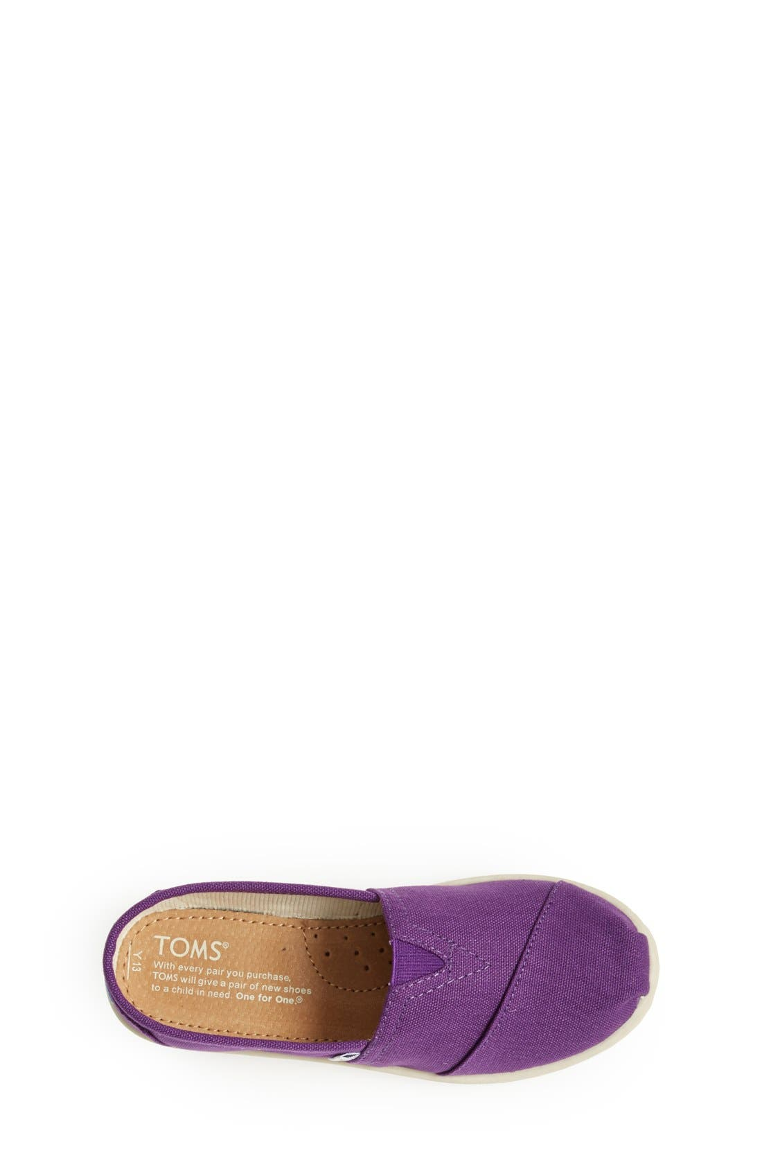 'Classic - Youth' Canvas Slip-On,                             Alternate thumbnail 5, color,