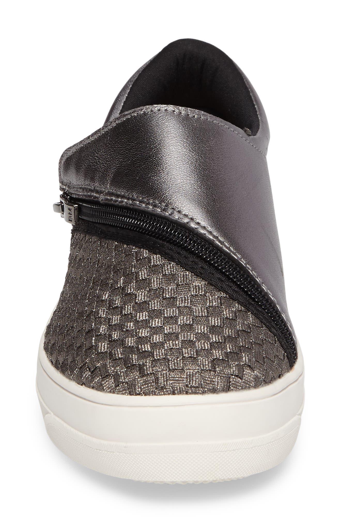 Bernie Mev Michelle Sneaker,                             Alternate thumbnail 4, color,                             GUNMETAL LEATHER