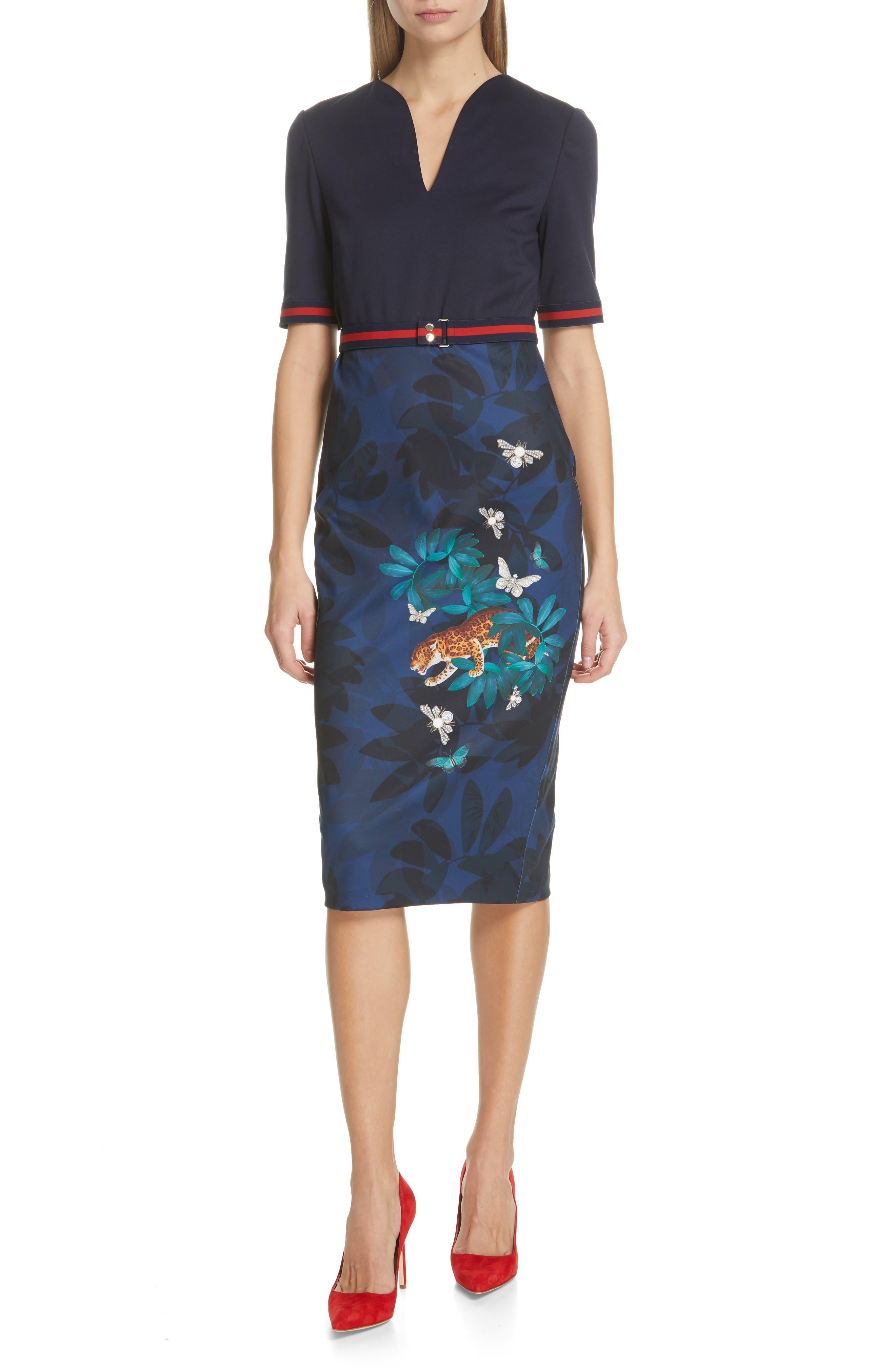Ted Baker London Yalila Houdini Sheath Dress, Blue