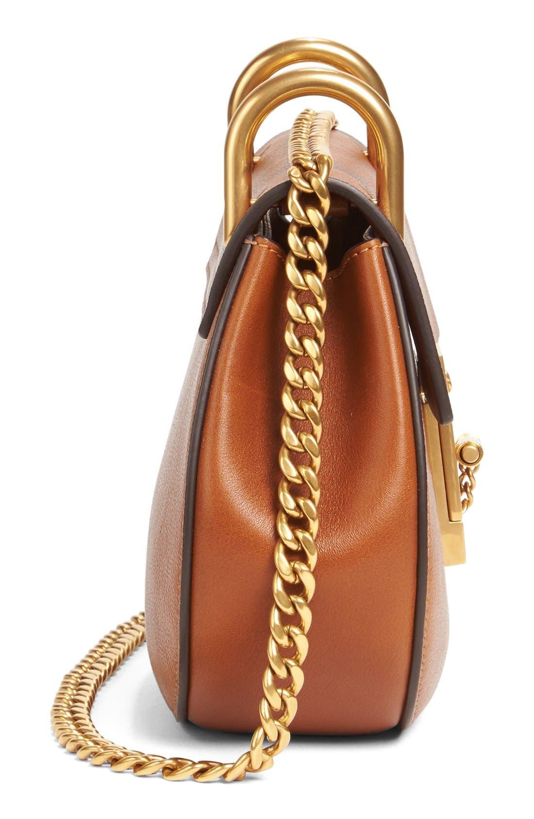Drew Leather Shoulder Bag,                             Alternate thumbnail 3, color,                             233