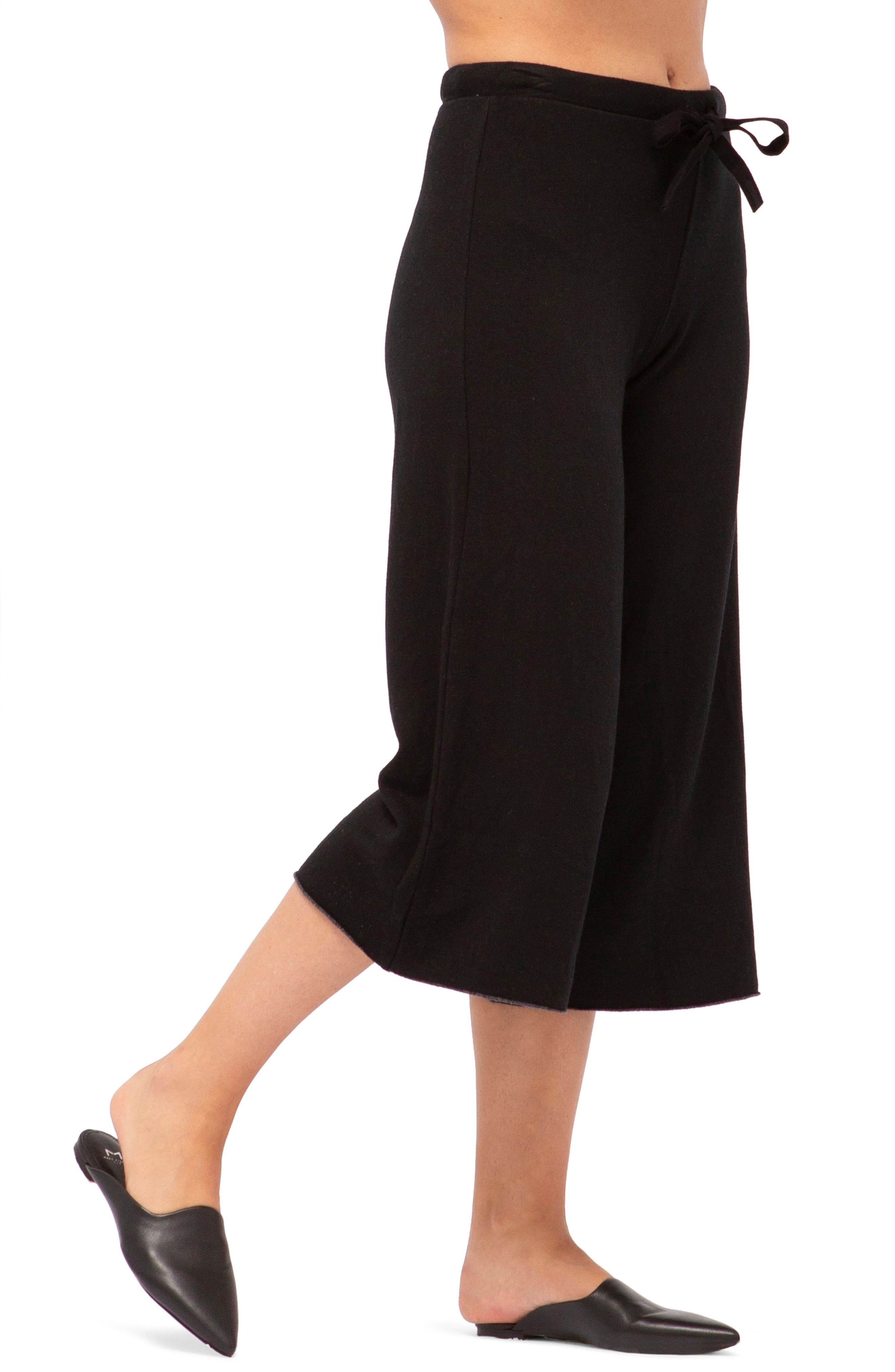Crop Sweatpants,                         Main,                         color, BLACK