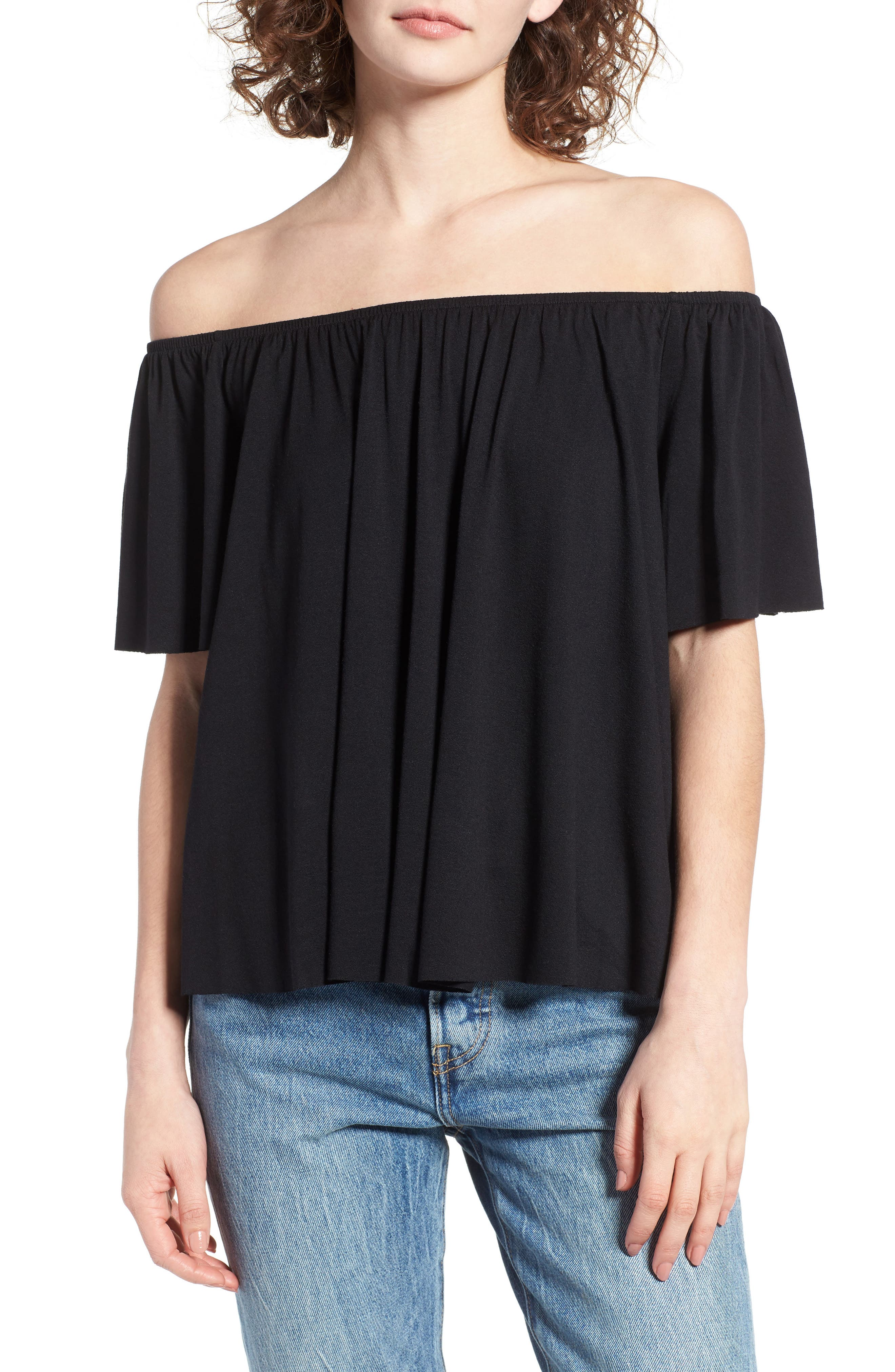 Off the Shoulder Top,                             Main thumbnail 4, color,