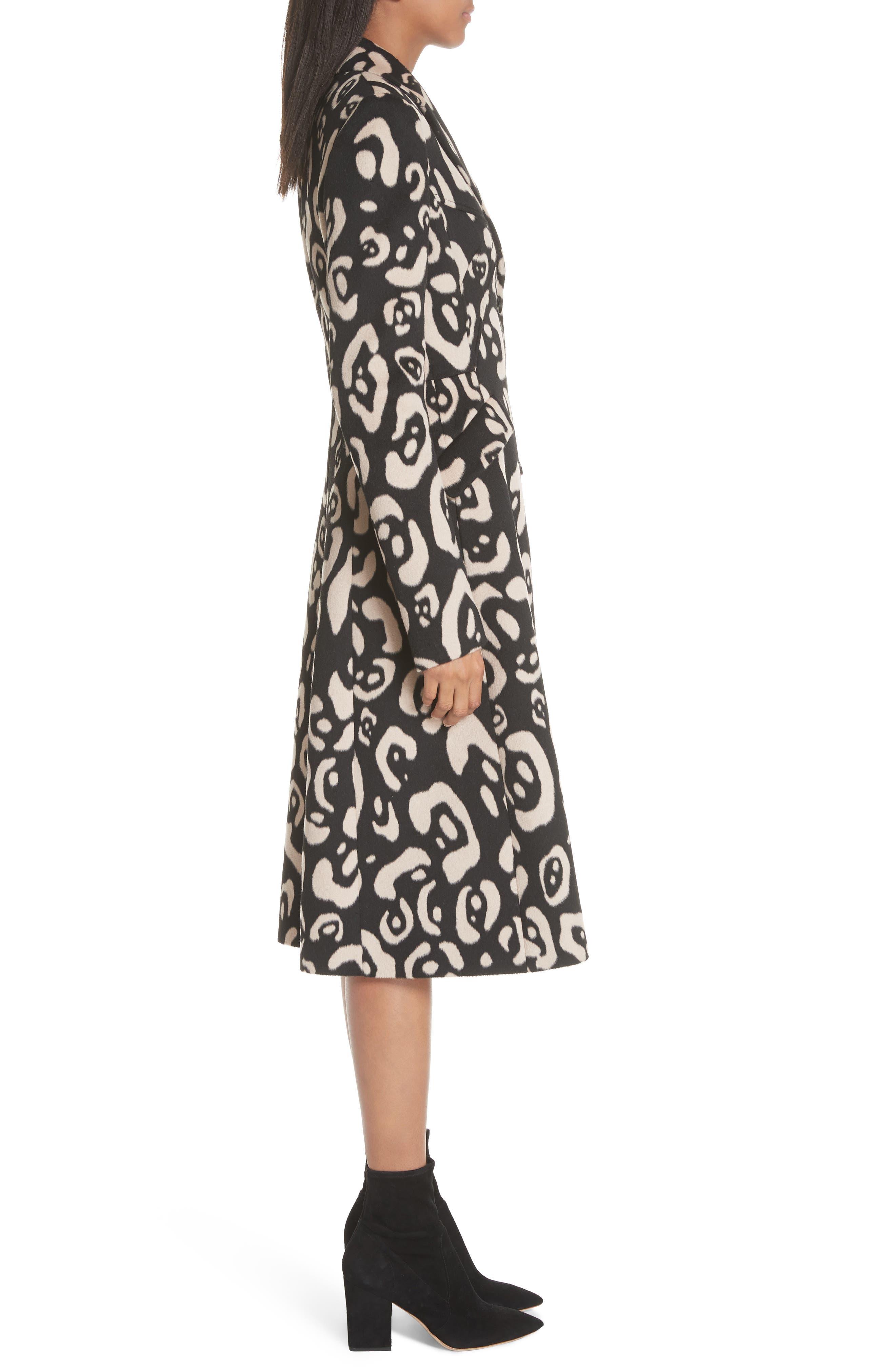 Driss Leopard Print Wool Blend Coat,                             Alternate thumbnail 2, color,                             001