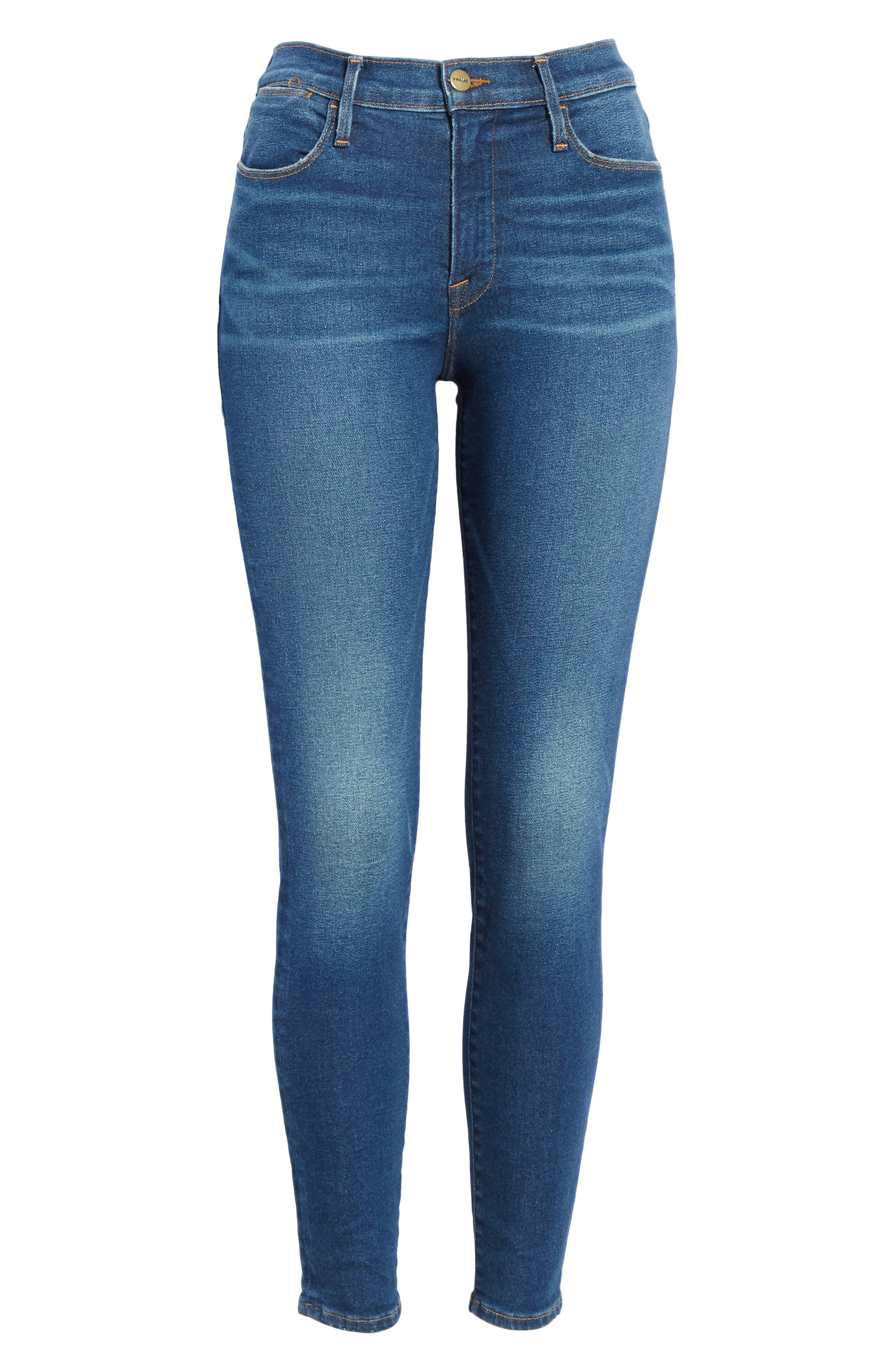 Le High Skinny Jeans,                             Alternate thumbnail 7, color,                             401
