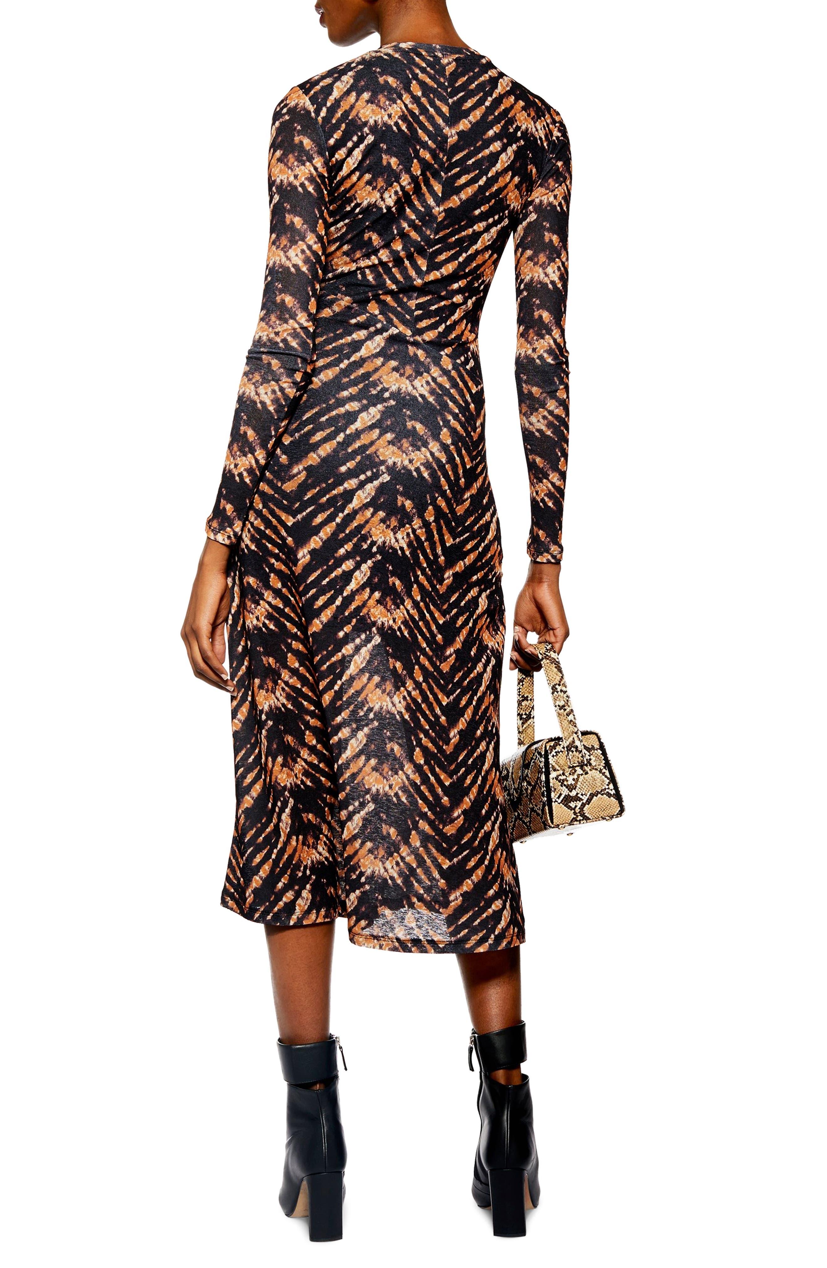 TOPSHOP,                             Tie Dye Mesh Midi Dress,                             Alternate thumbnail 2, color,                             BLACK MULTI