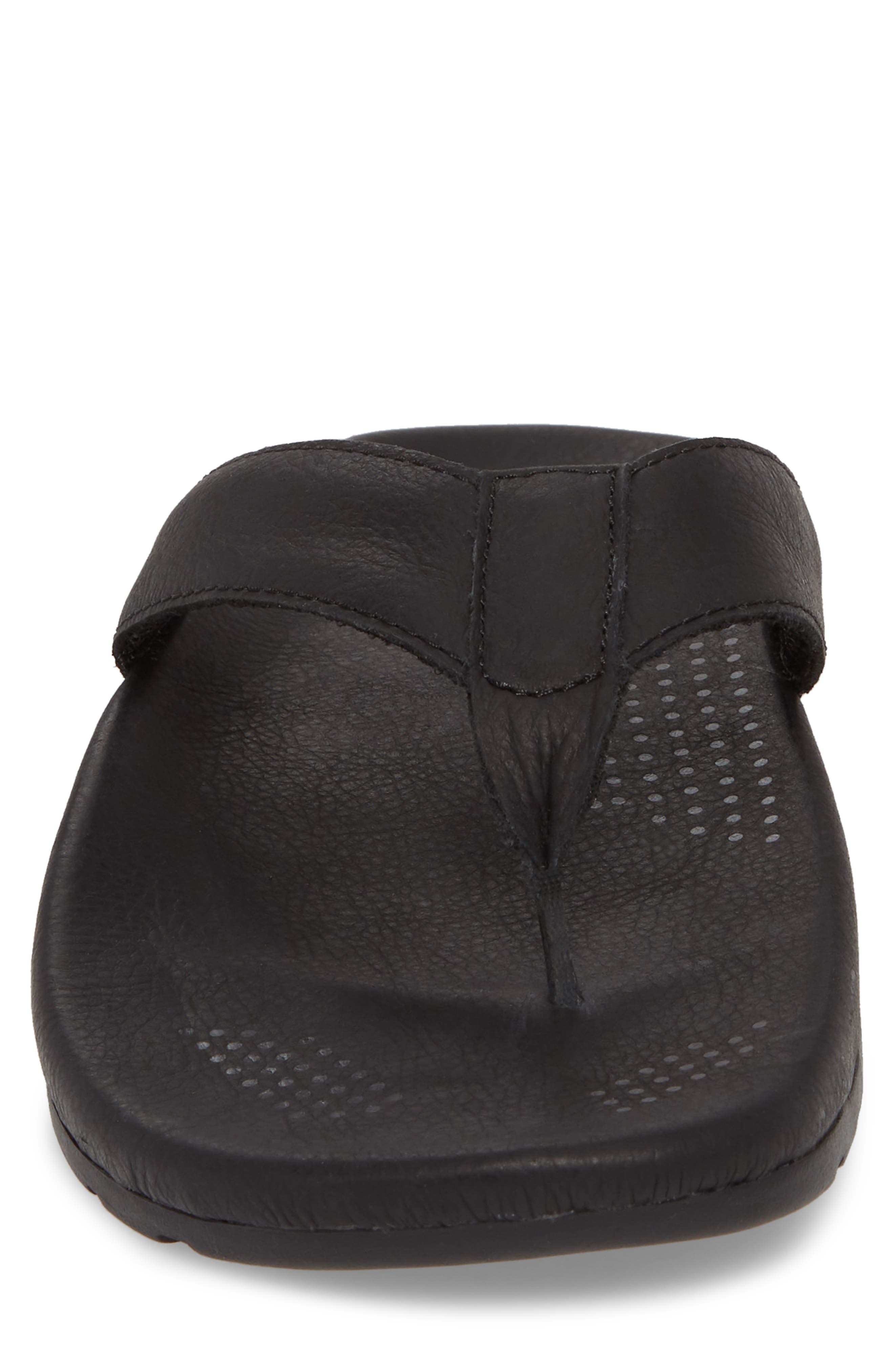UGG<SUP>®</SUP>,                             Tenoch Luxe Flip Flop,                             Alternate thumbnail 4, color,                             001