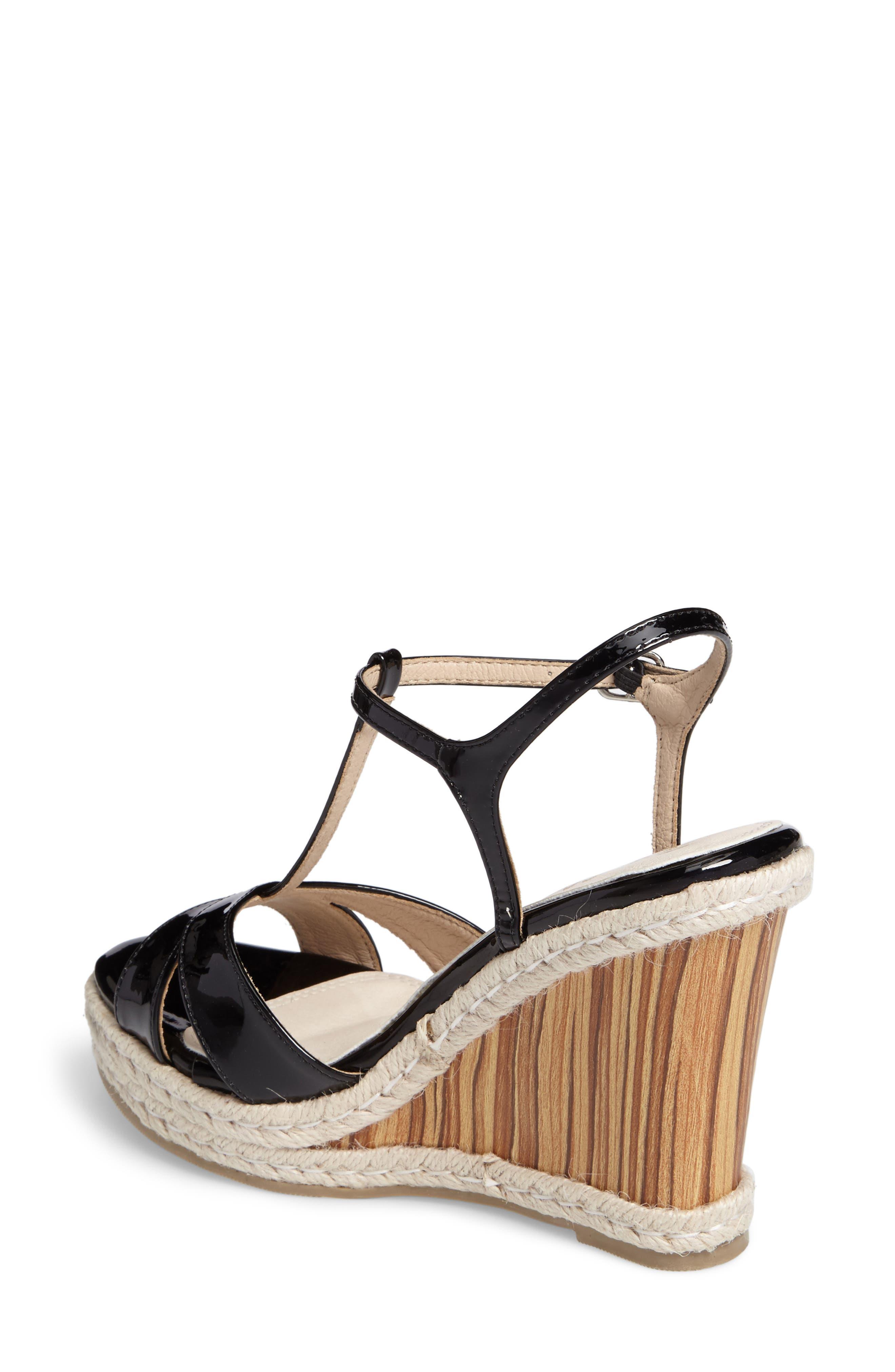 Alinna T-Strap Wedge Sandal,                             Alternate thumbnail 2, color,                             002