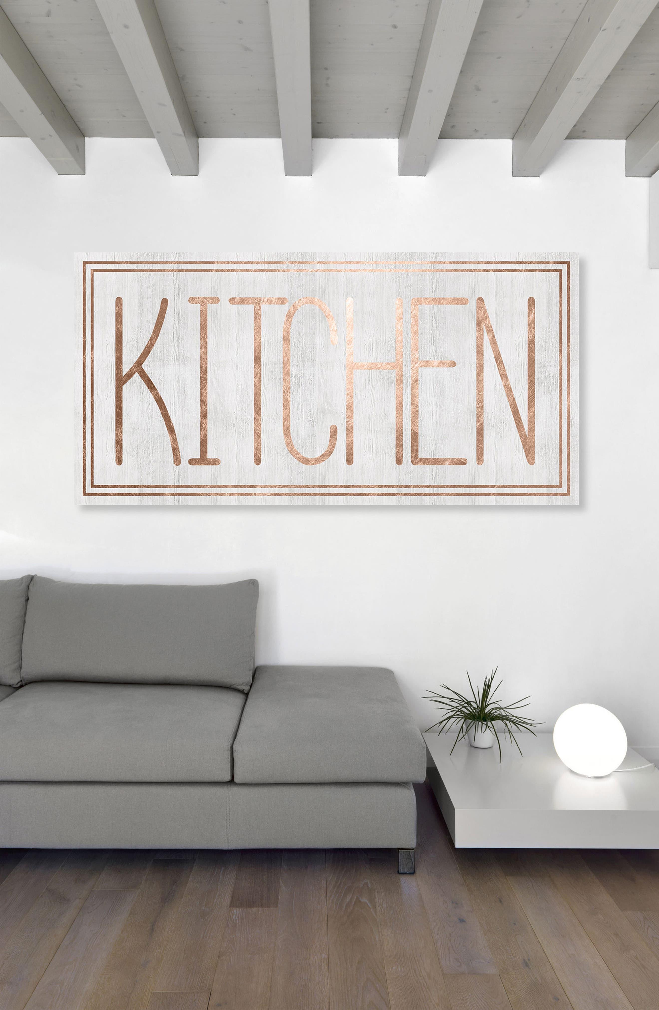 Kitchen Canvas Wall Art,                             Alternate thumbnail 2, color,                             WHITE