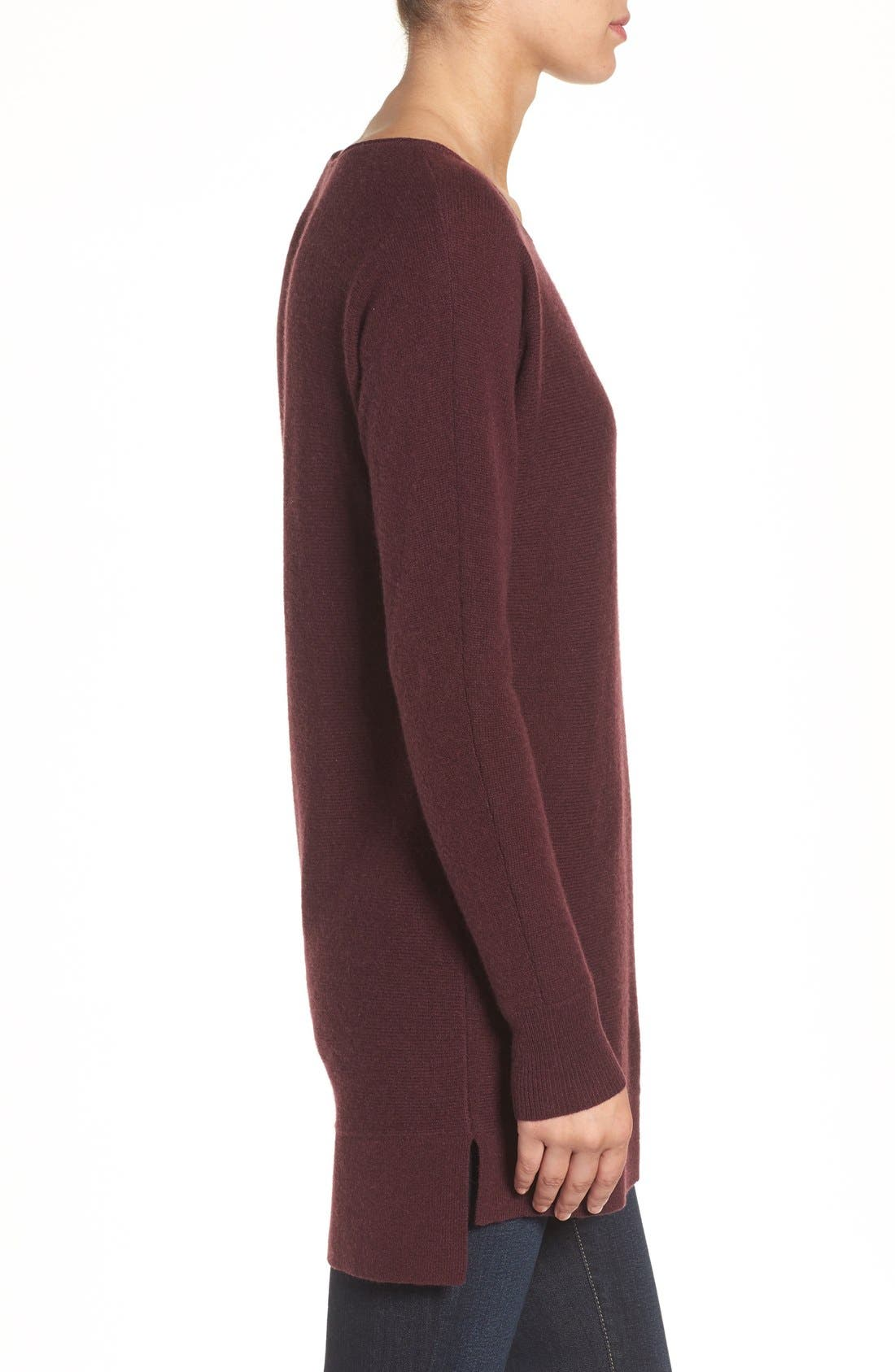 High/Low Wool & Cashmere Tunic Sweater,                             Alternate thumbnail 108, color,