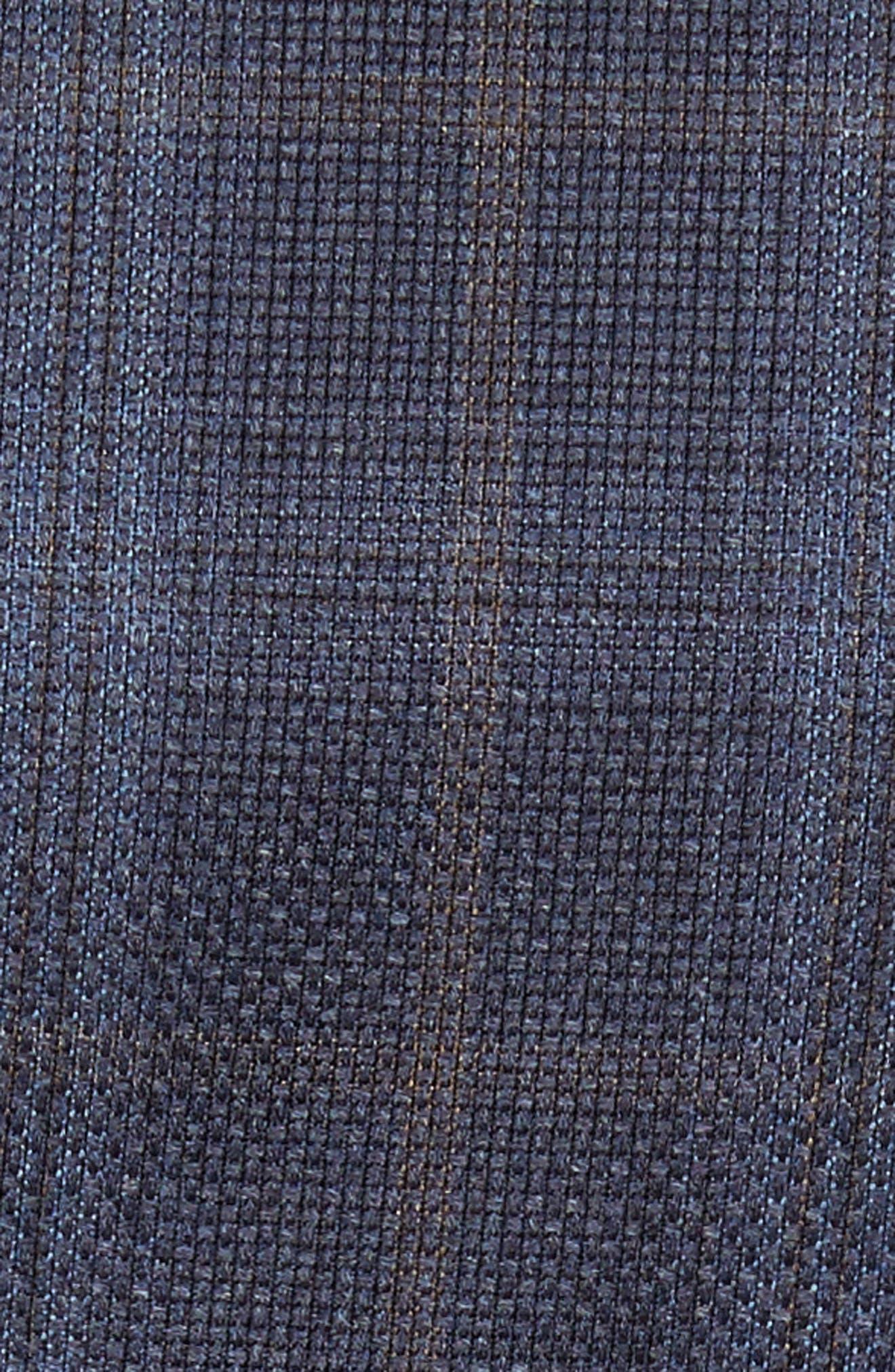 Trim Fit Plaid Wool Sport Coat,                             Alternate thumbnail 6, color,