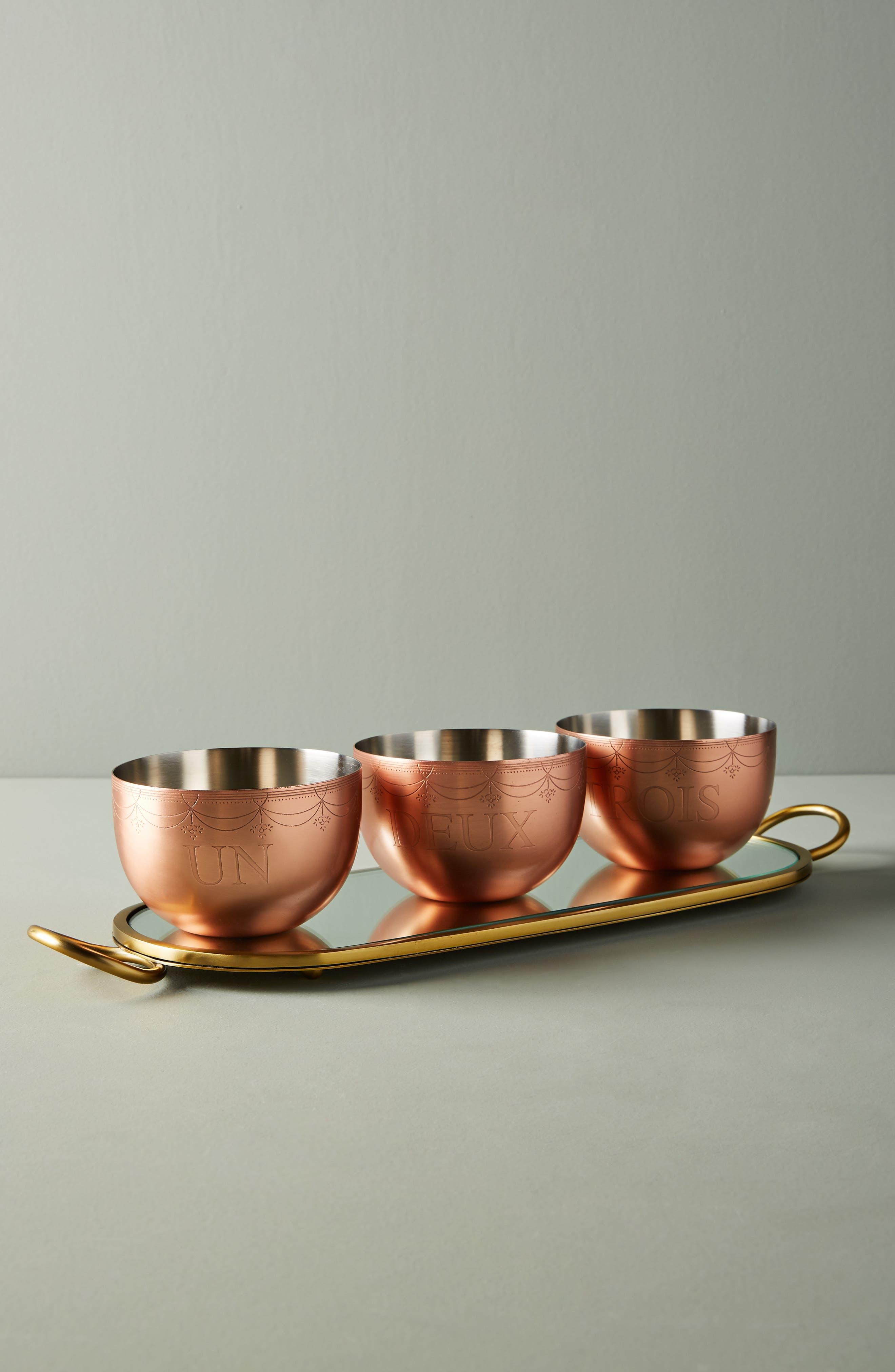 Lanna Tray & Bowl Set,                         Main,                         color, ROSE GOLD