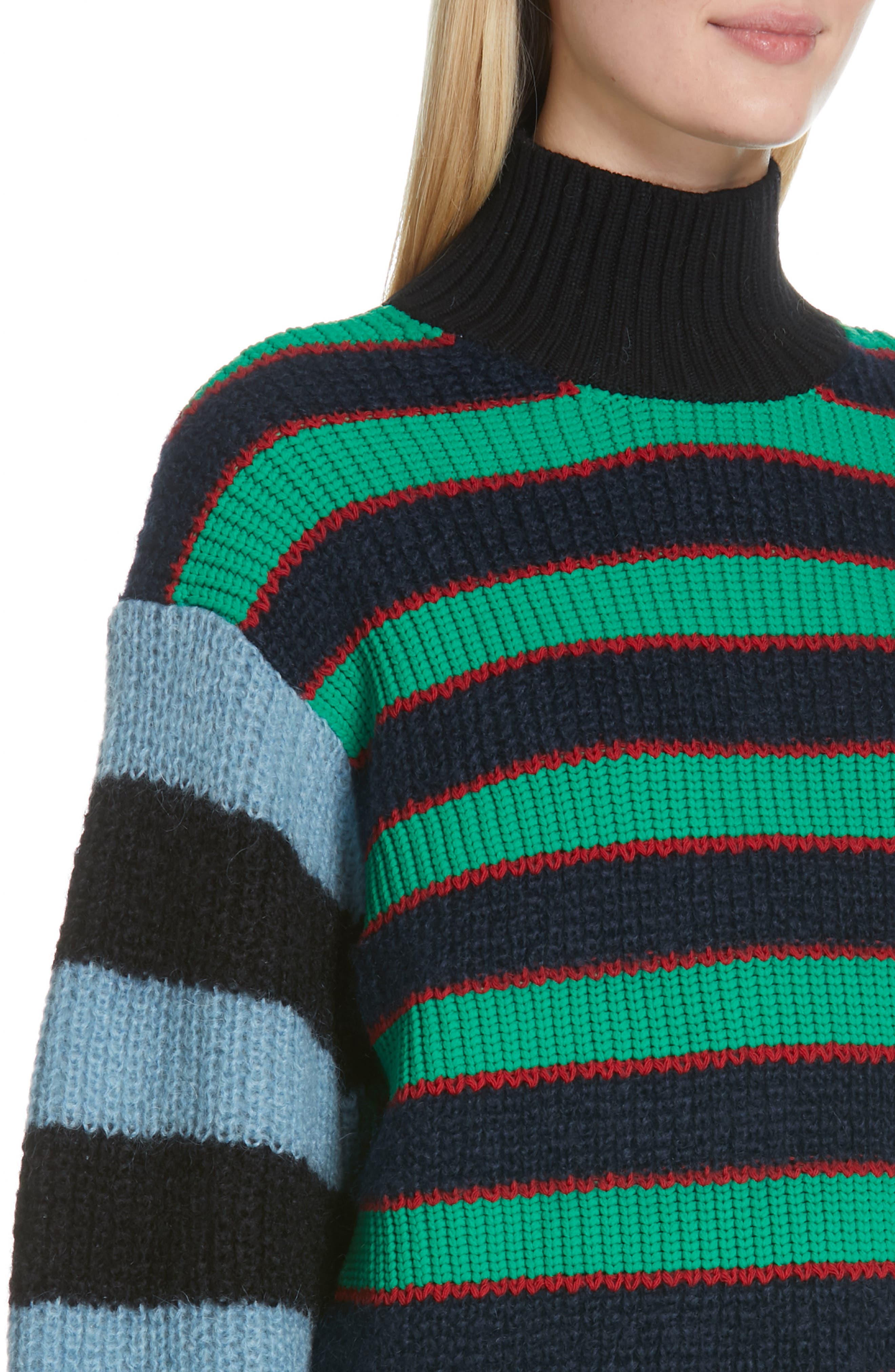 Colorblock Stripe Mohair & Wool Blend Sweater,                             Alternate thumbnail 4, color,                             MULTICOLOR