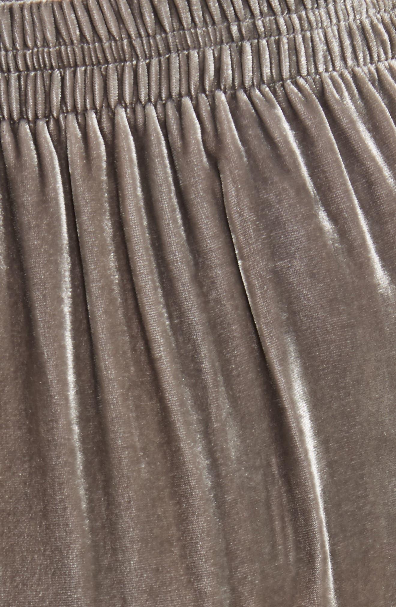 Wide Leg Velvet Pants,                             Alternate thumbnail 5, color,                             030
