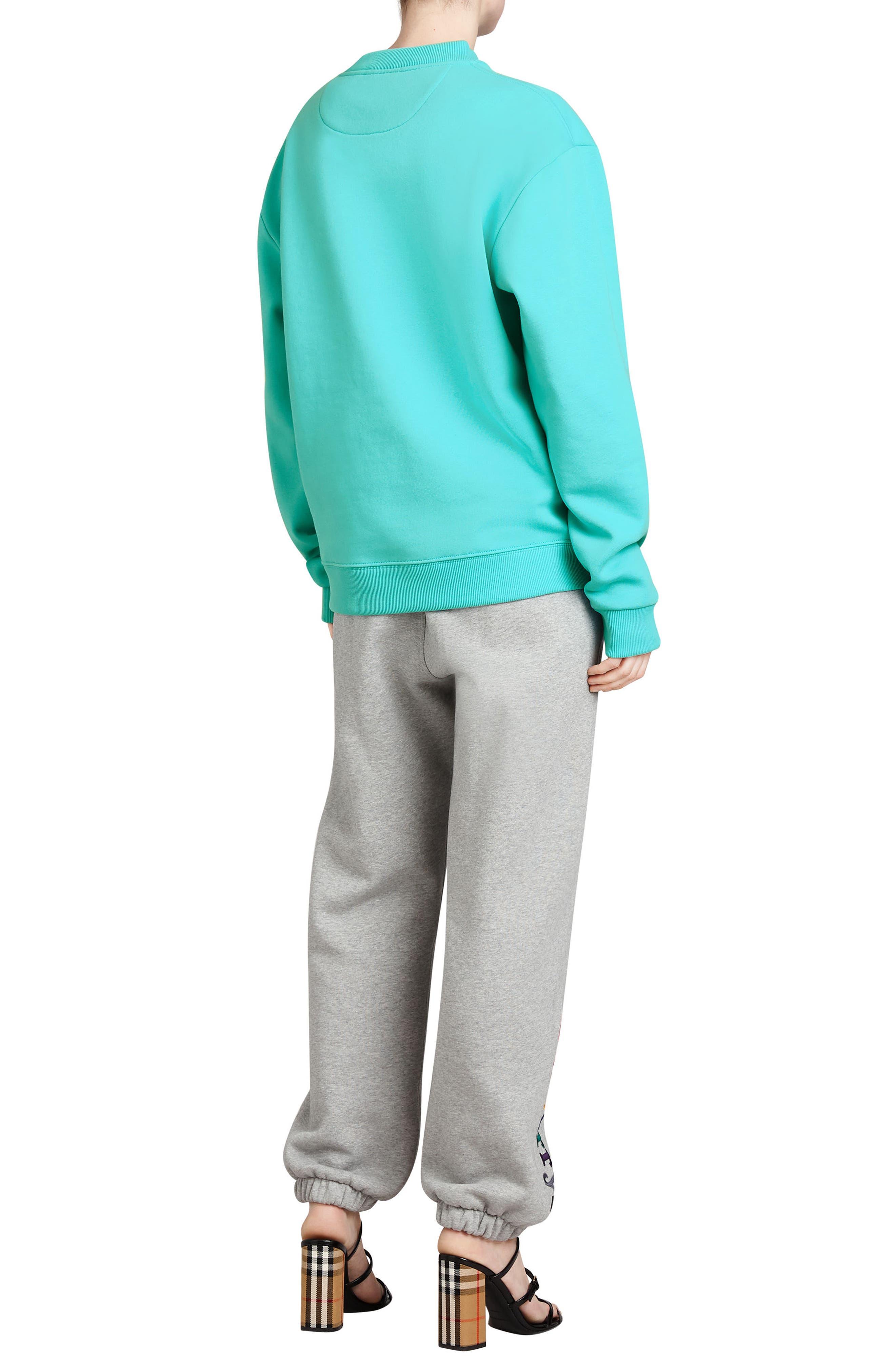 Vintage Crest Sweatshirt,                             Alternate thumbnail 6, color,                             AQUA