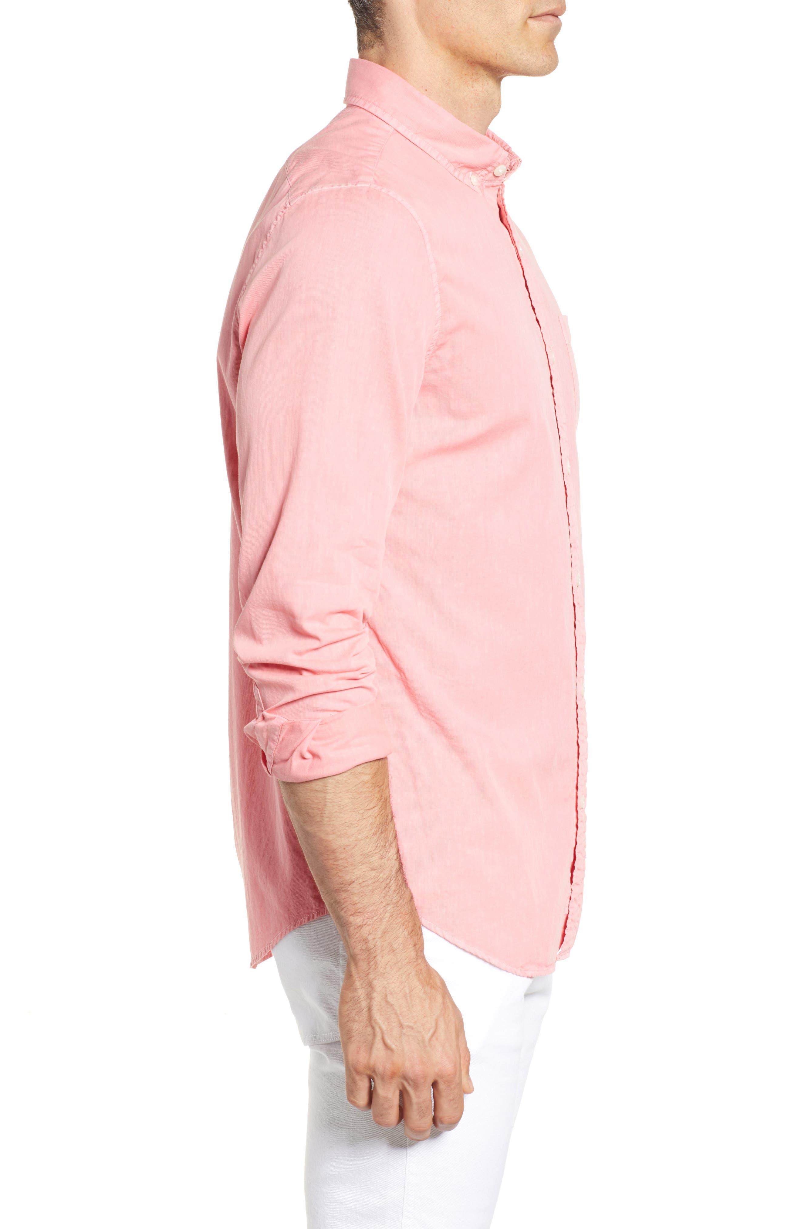 Tucker Slim Fit Solid Cotton & Silk Sport Shirt,                             Alternate thumbnail 6, color,