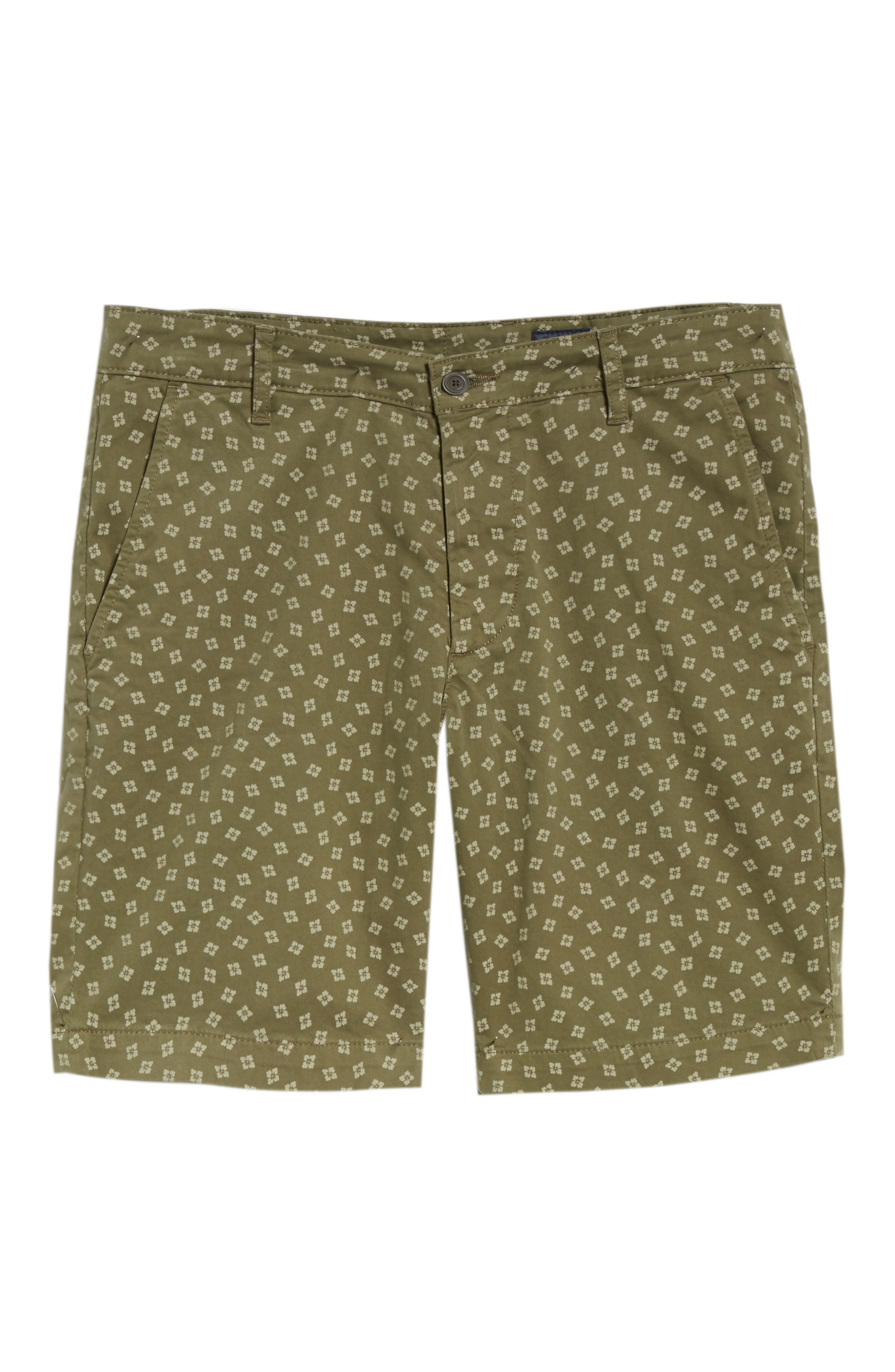 Flora Print Slim Fit Shorts,                             Alternate thumbnail 6, color,                             FLORA CANYON MOSS