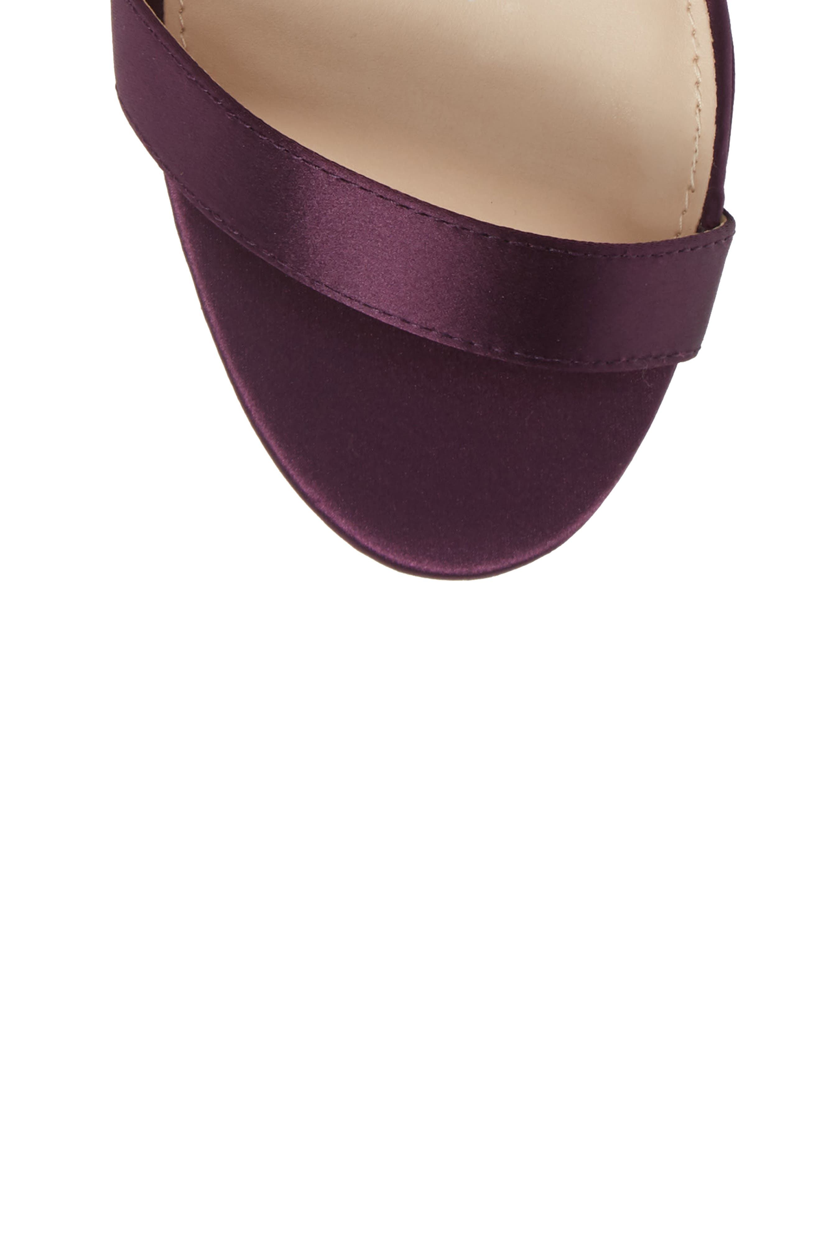 Fayth Jeweled Ankle Cuff Sandal,                             Alternate thumbnail 5, color,                             EGGPLANT SATIN