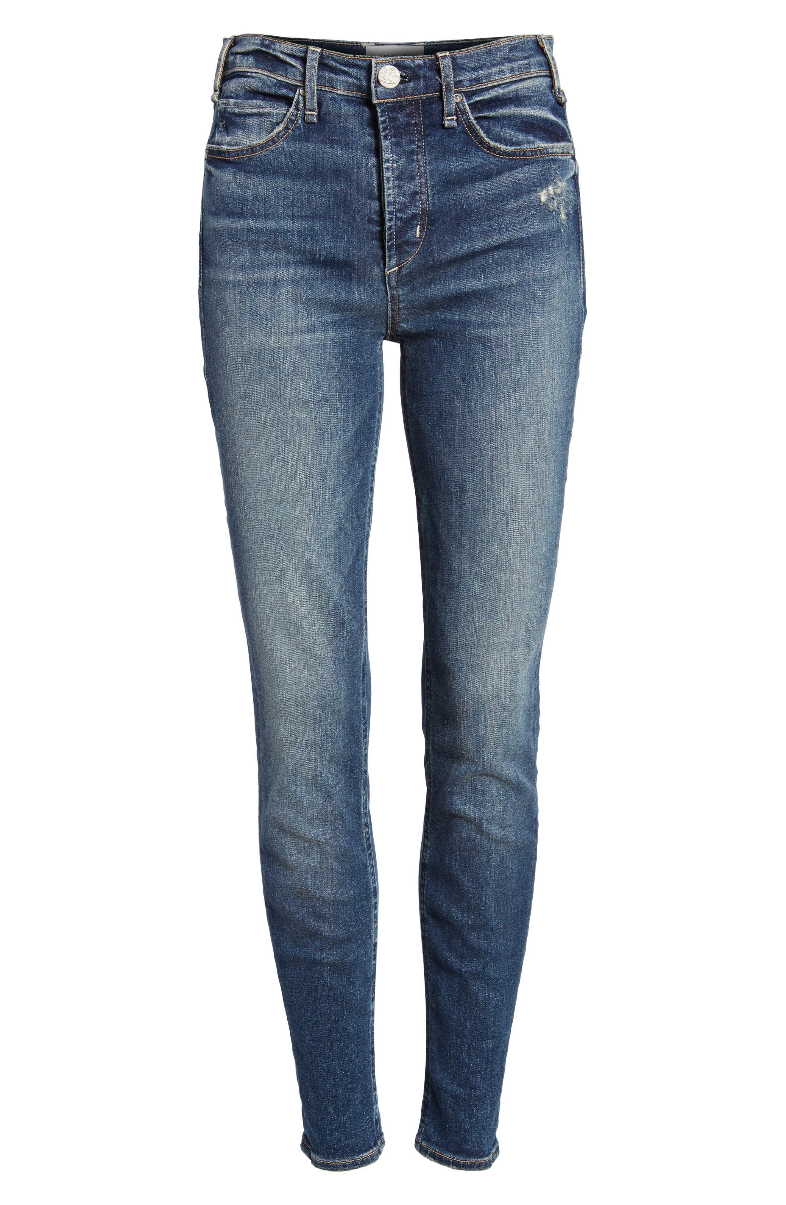 Newton High Rise Skinny Jeans,                             Alternate thumbnail 7, color,                             420