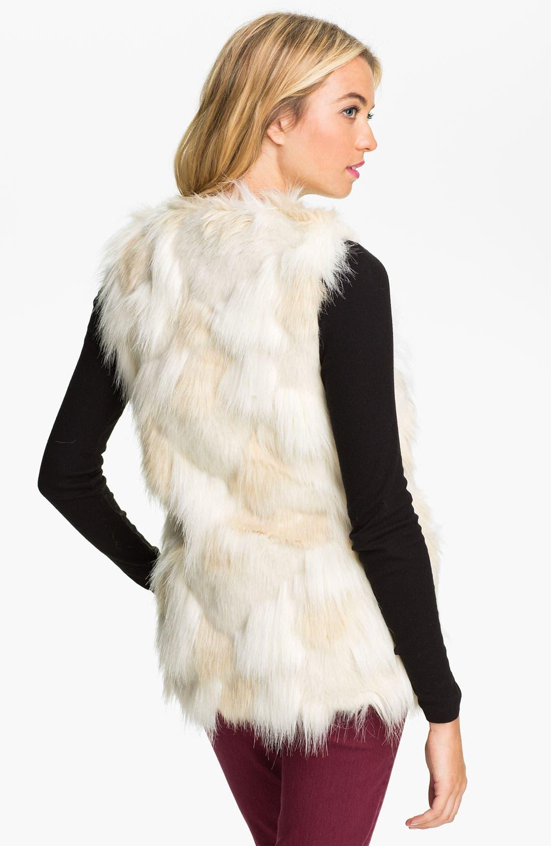 STEVE MADDEN,                             Faux Fur Patch Vest,                             Alternate thumbnail 2, color,                             900