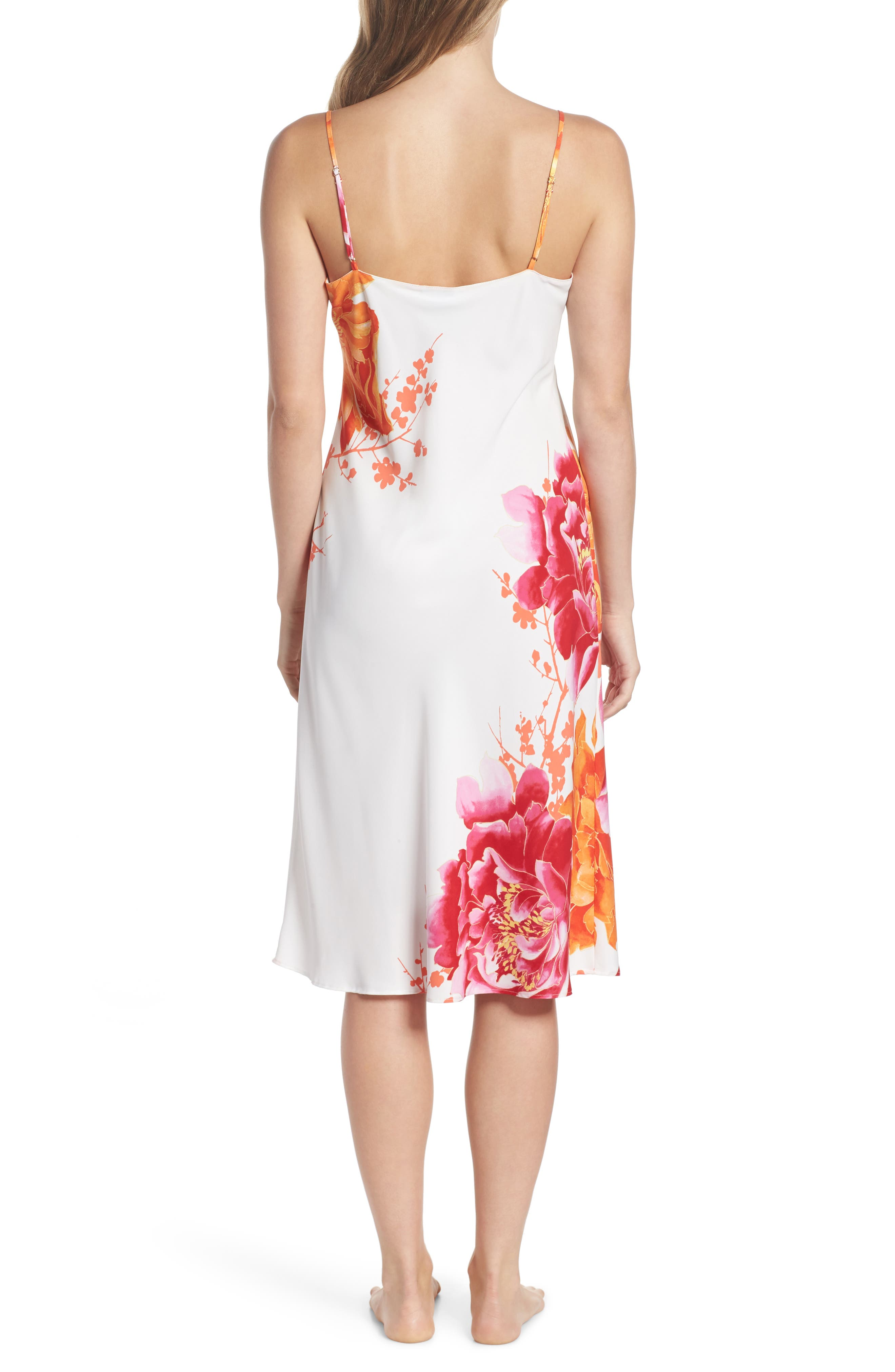 Bali Floral Print Slip,                             Alternate thumbnail 2, color,                             100