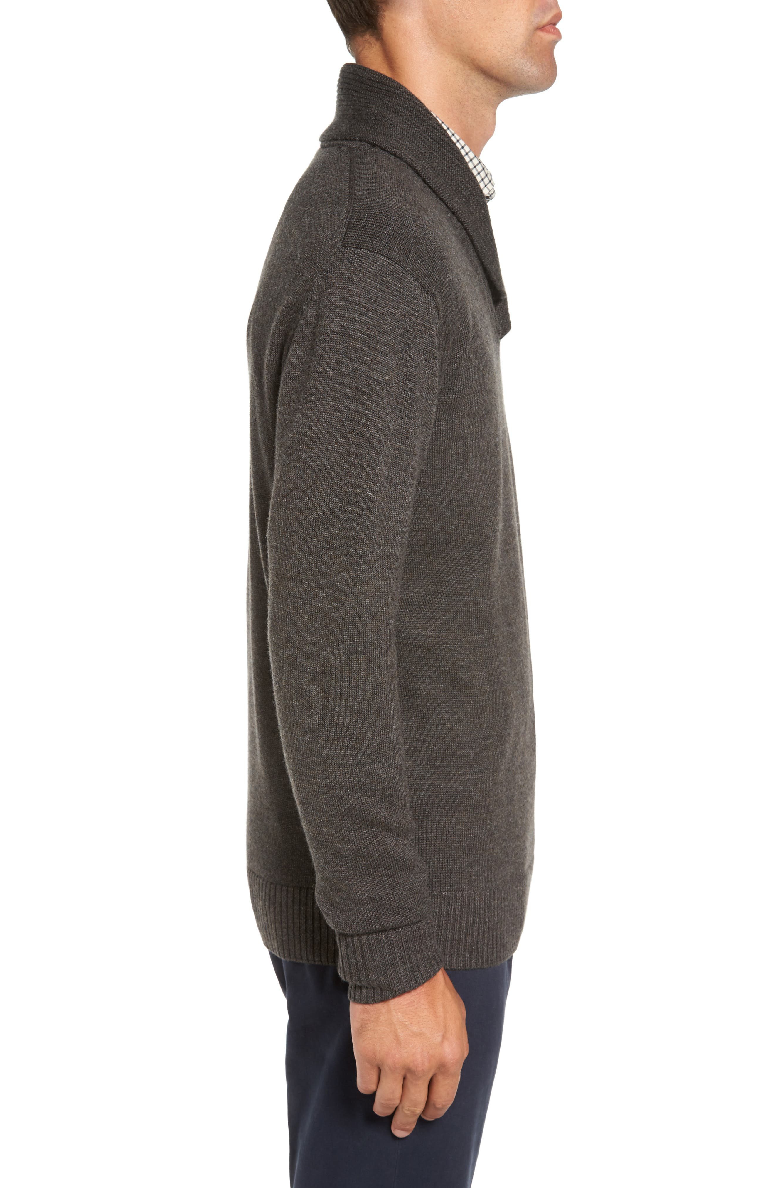 PT Chevalier Shawl Collar Sweater,                             Alternate thumbnail 3, color,                             202