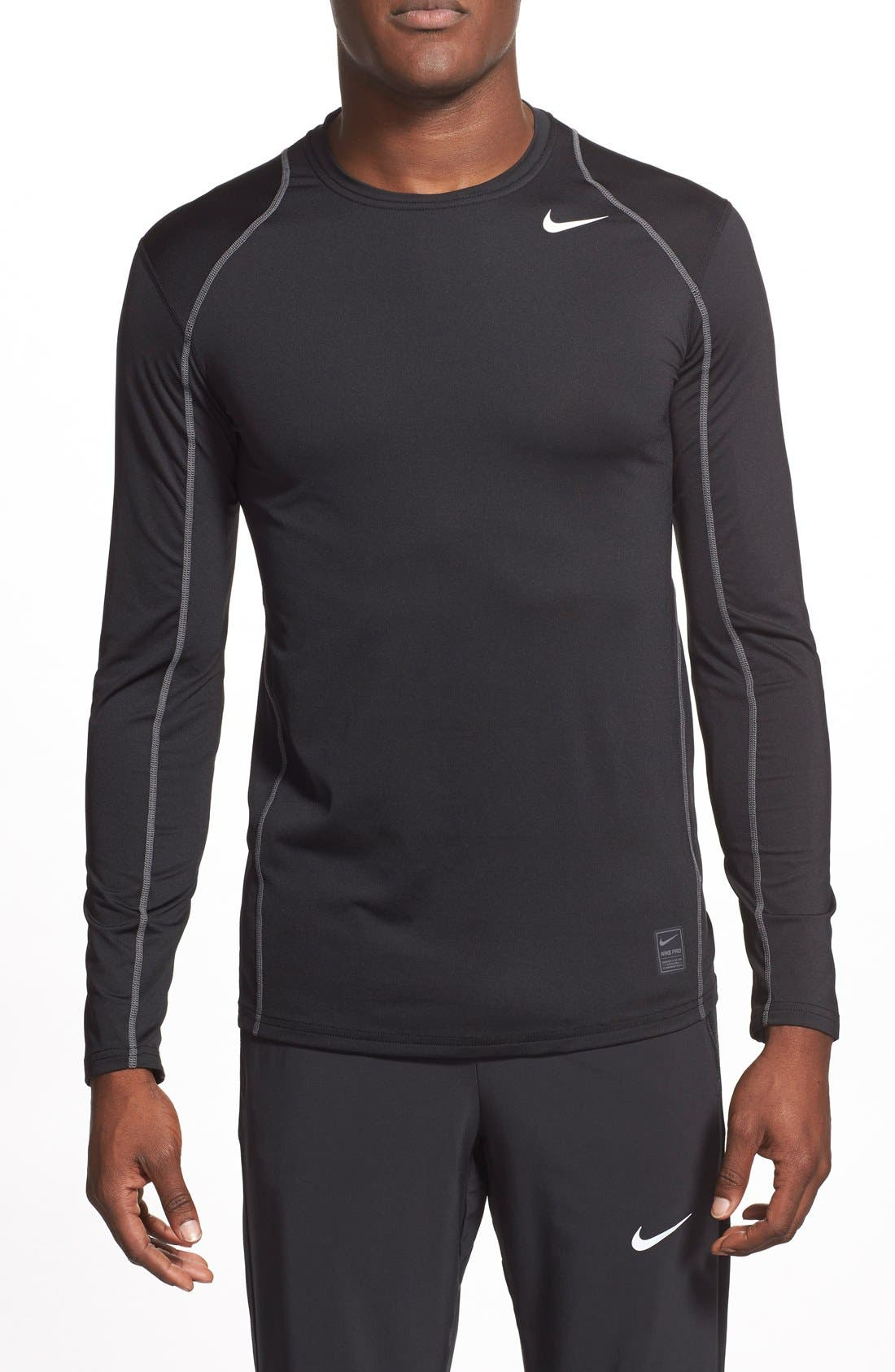 'Pro Coo' Fitted Long Sleeve Dri-FIT T-Shirt,                             Main thumbnail 1, color,                             010