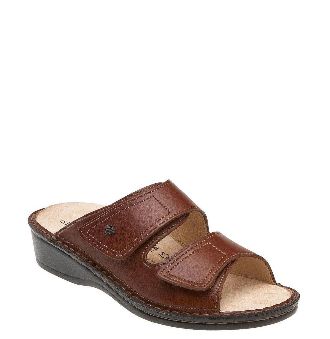 'Jamaica' Sandal,                             Main thumbnail 1, color,                             BRANDY