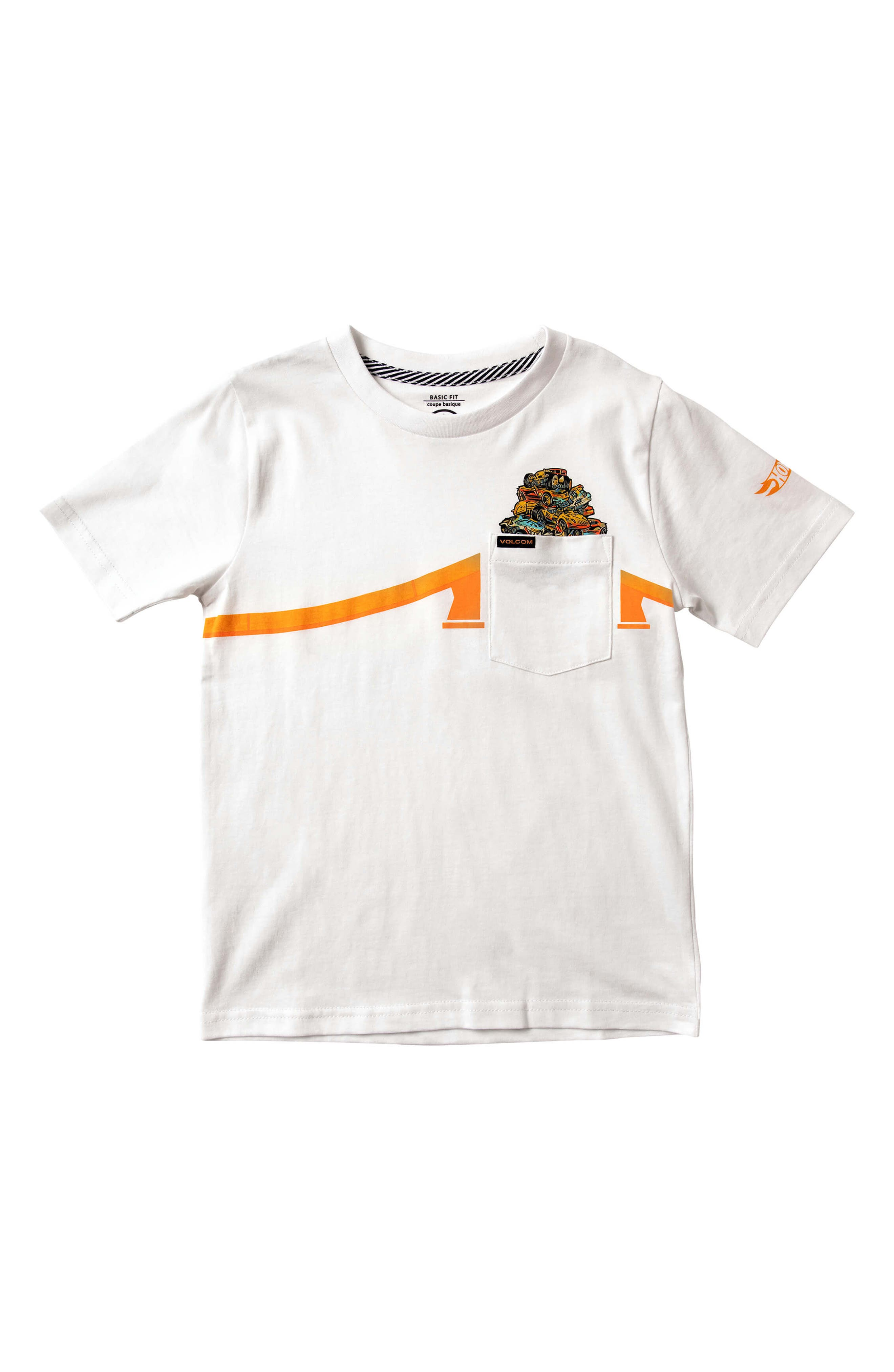 x Hot Wheels<sup>®</sup> Pile Up Pocket T-Shirt, Main, color, 100