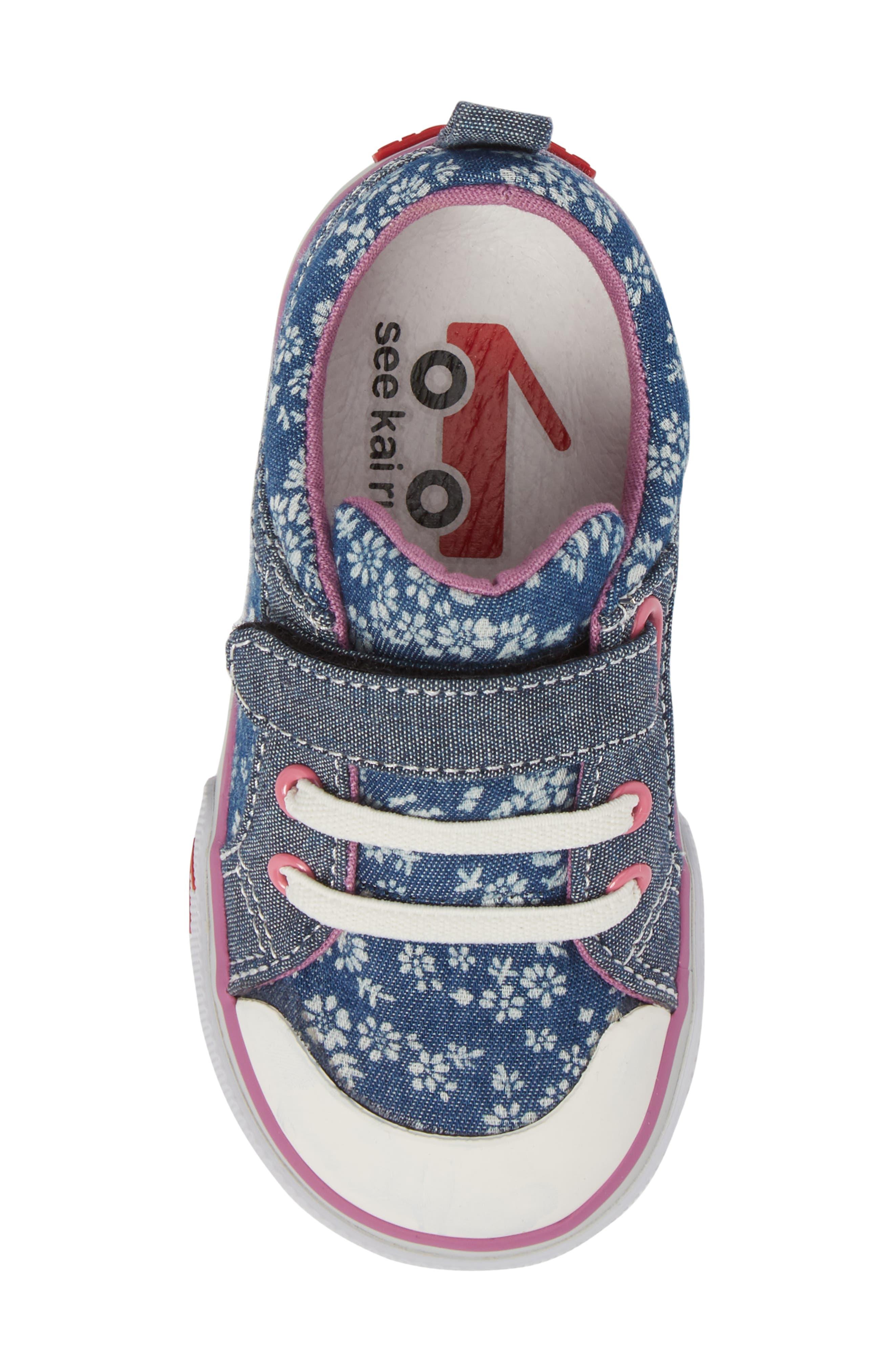 Kristin Sneaker,                             Alternate thumbnail 5, color,                             BLUE FLOWERS