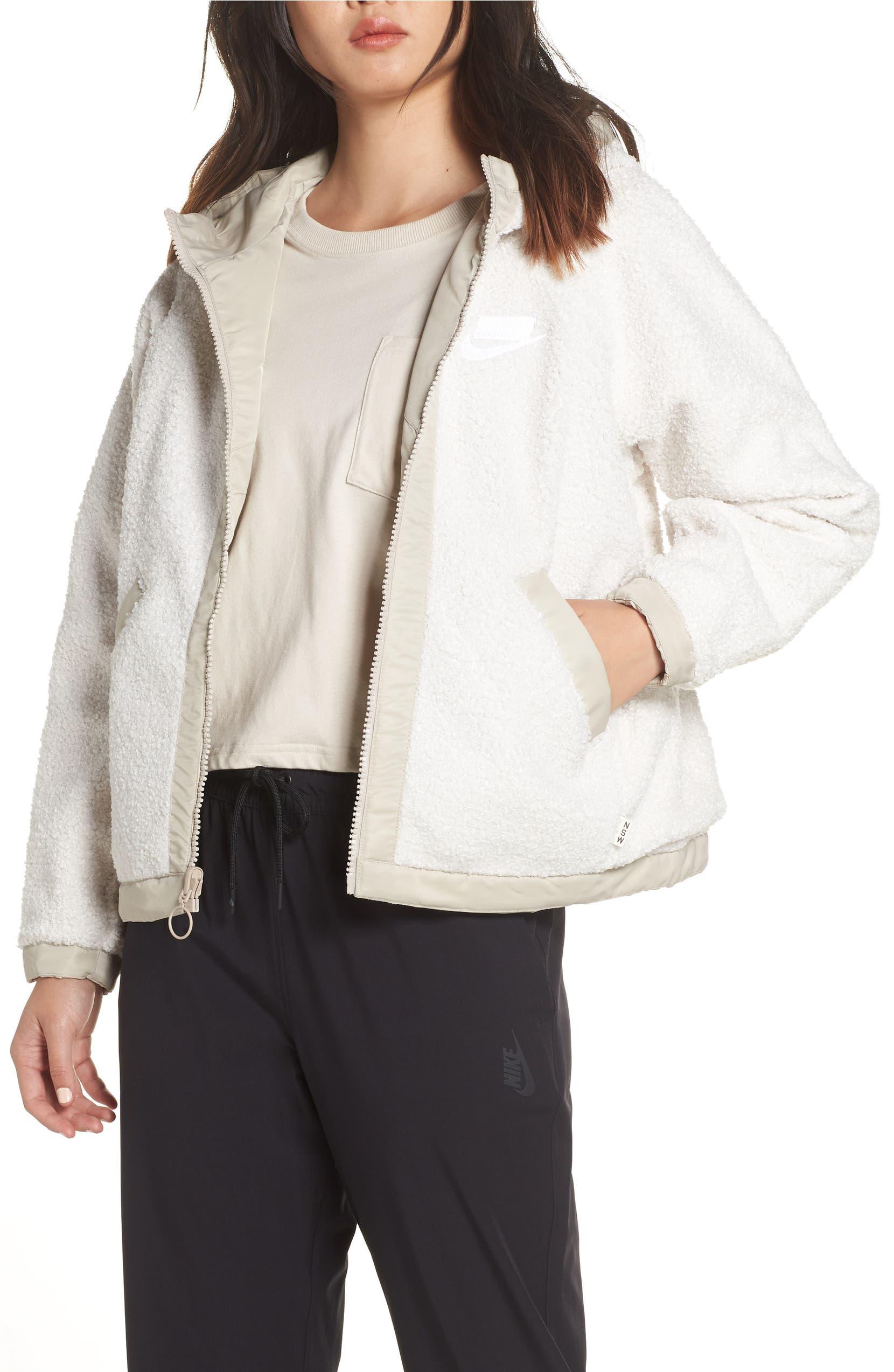 6fbcdd5d6496 Nike Sportswear Women s Reversible Full-Zip Fleece Jacket