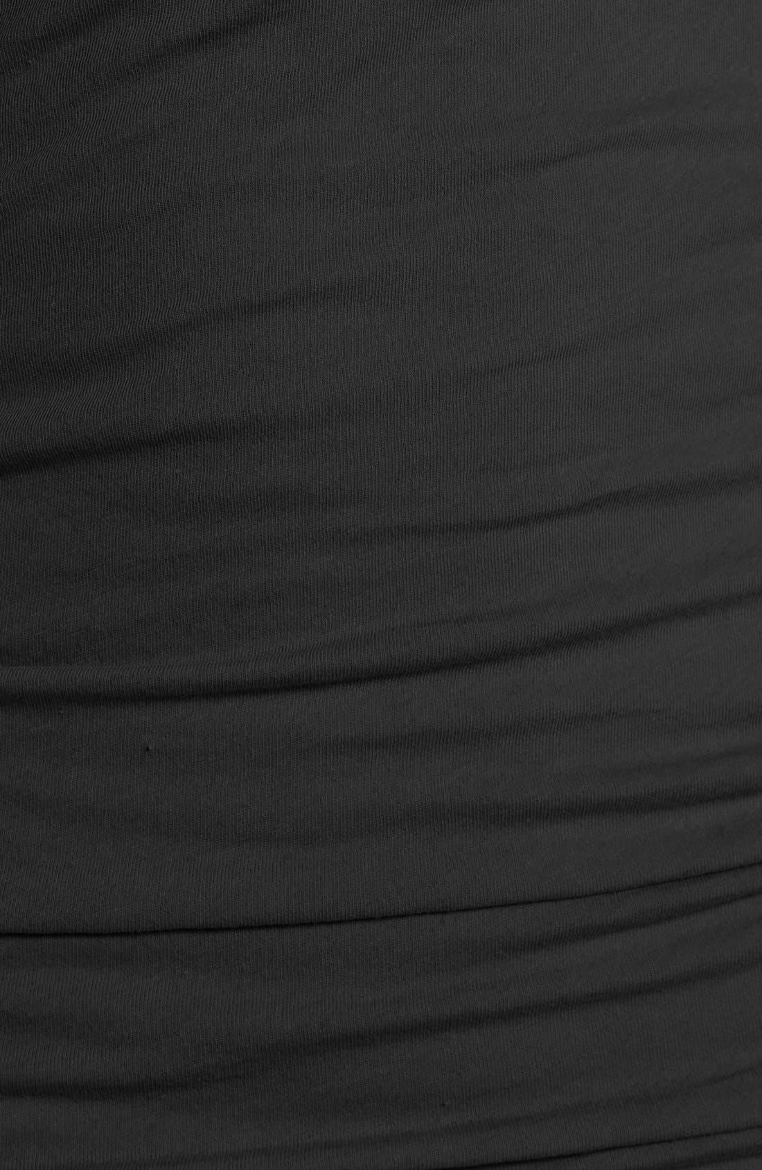 V-Neck Ruched Dress,                             Alternate thumbnail 2, color,                             001