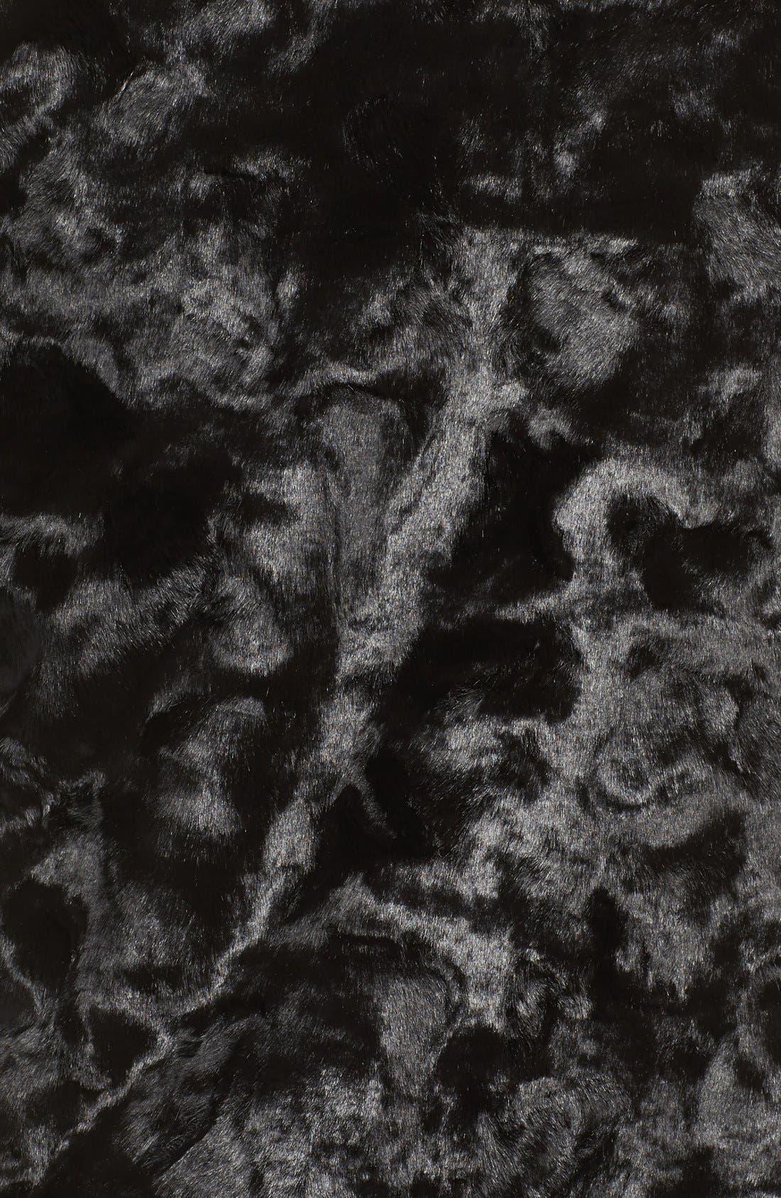 Watson Faux Fur Bomber Jacket,                             Alternate thumbnail 8, color,                             001