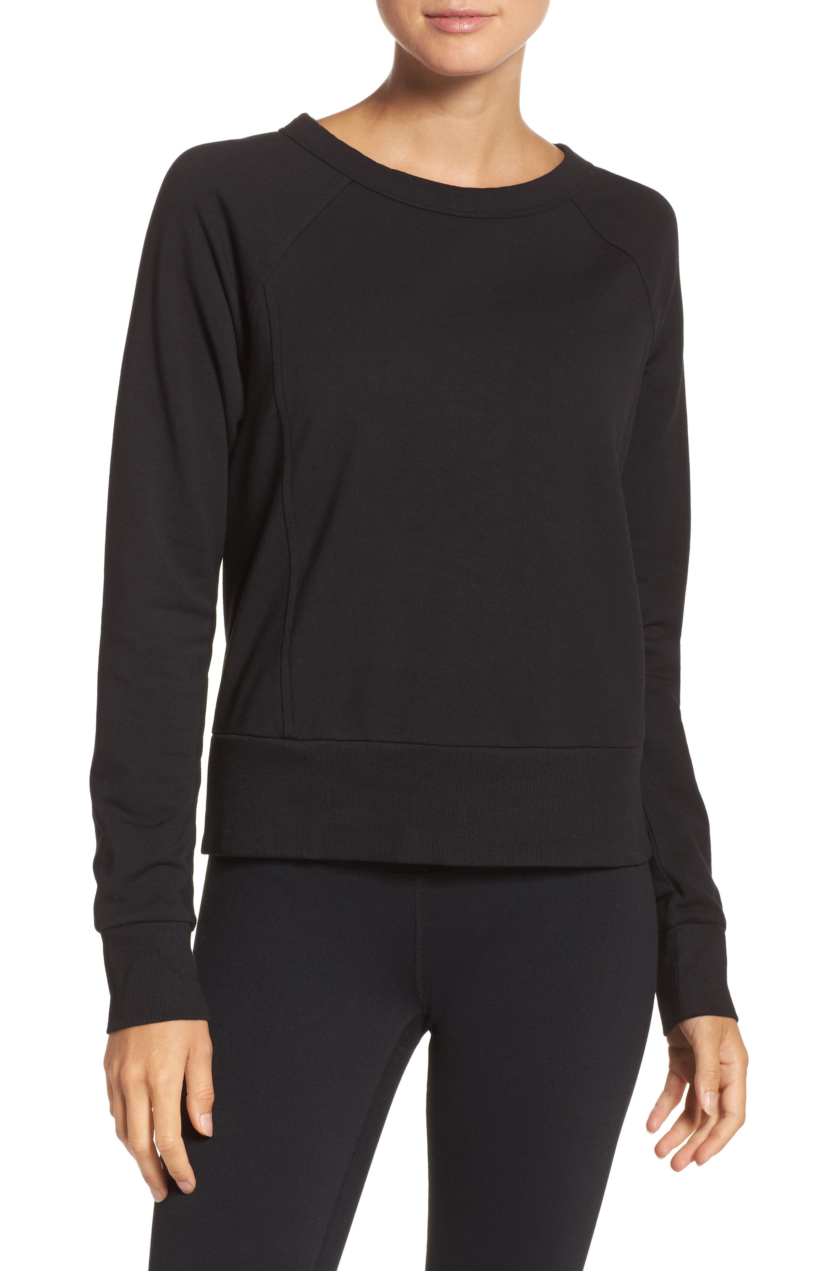 Covet Crisscross Sweatshirt,                         Main,                         color, 001