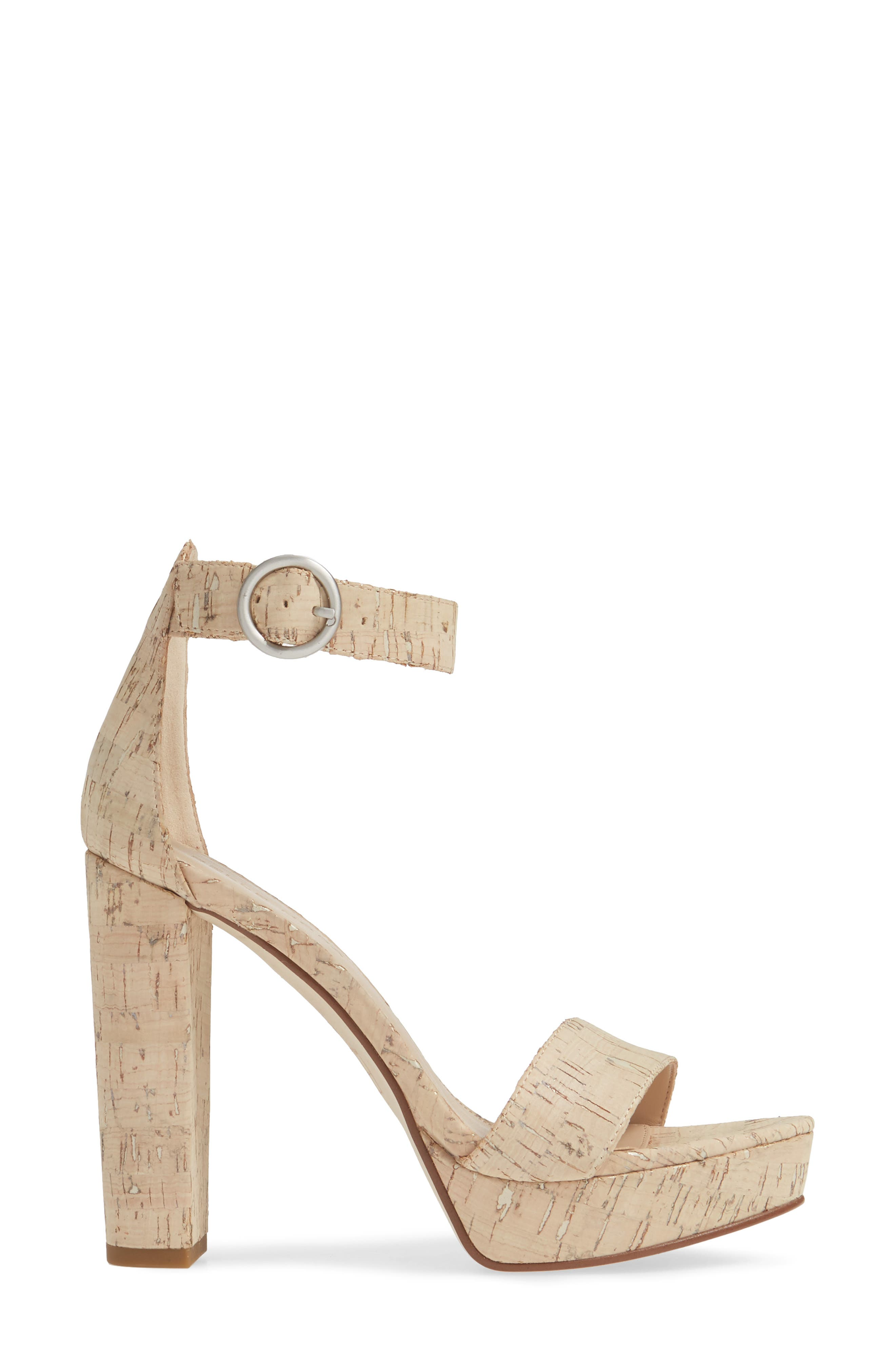 PELLE MODA,                             Palo 2 Platform Sandal,                             Alternate thumbnail 3, color,                             WHITE WASHED CORK