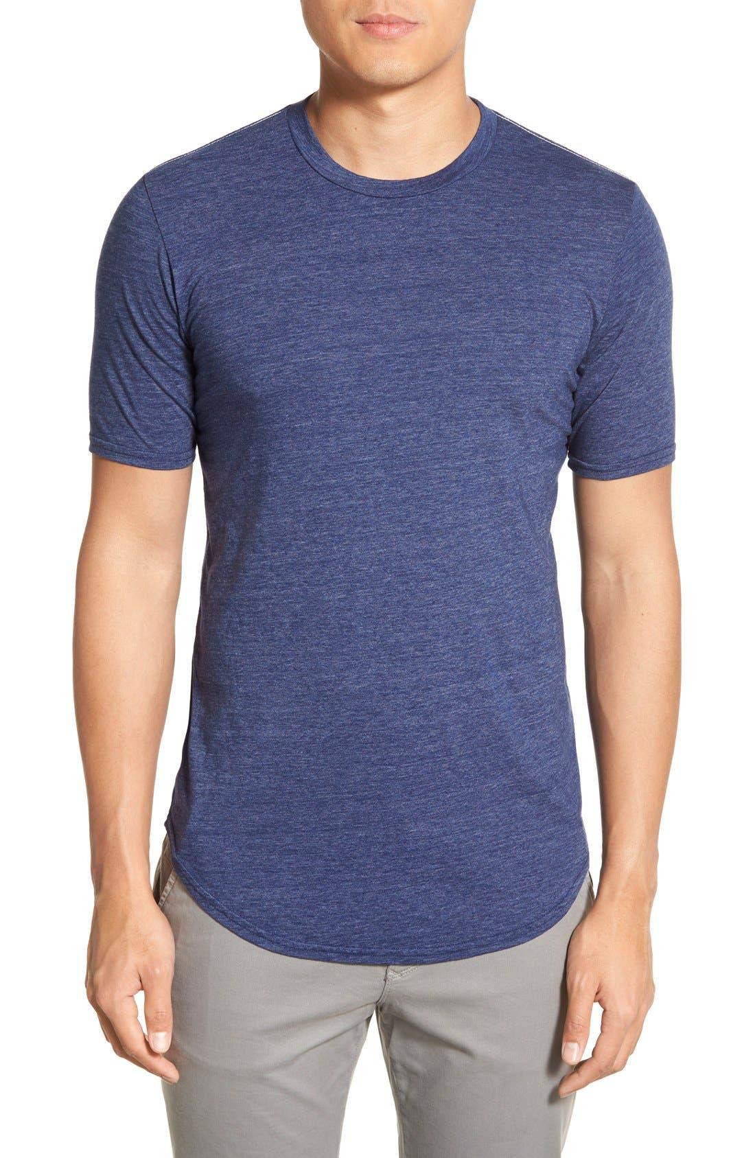 Scallop Triblend Crewneck T-Shirt,                             Main thumbnail 18, color,