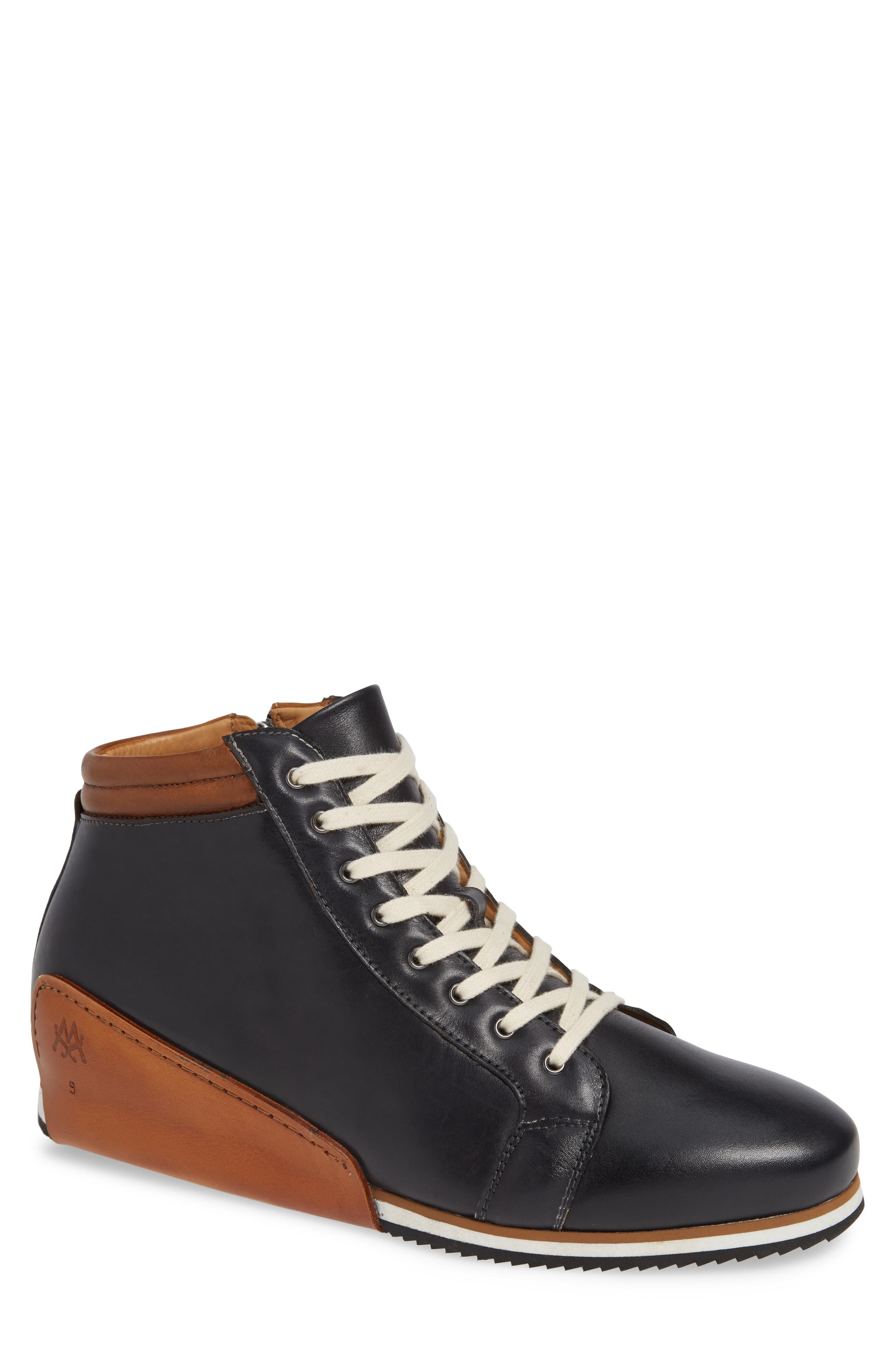Niro Sneaker in Black/ Tan Leather