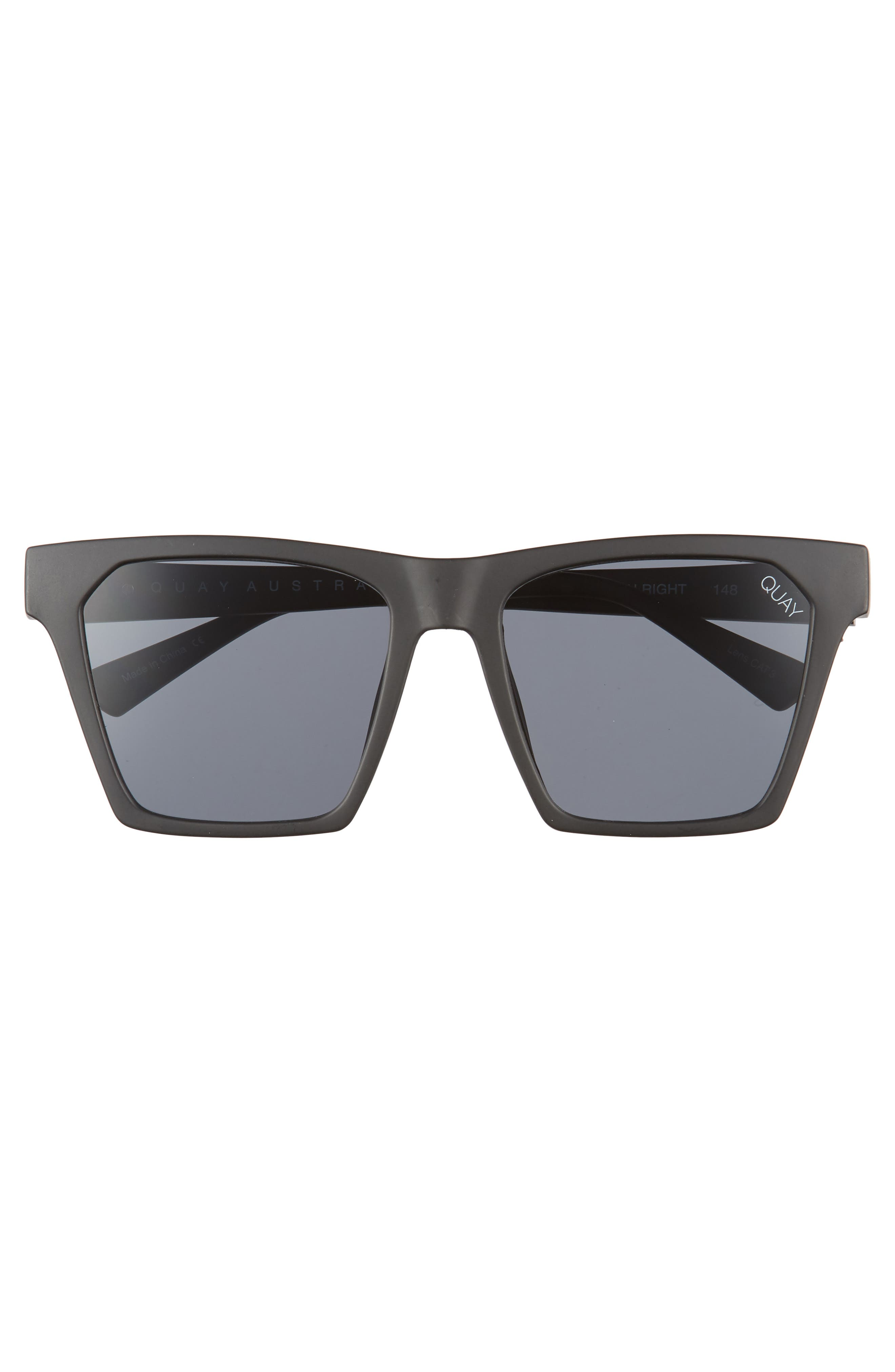 x Missguided Alright 55mm Square Sunglasses,                             Alternate thumbnail 3, color,                             001