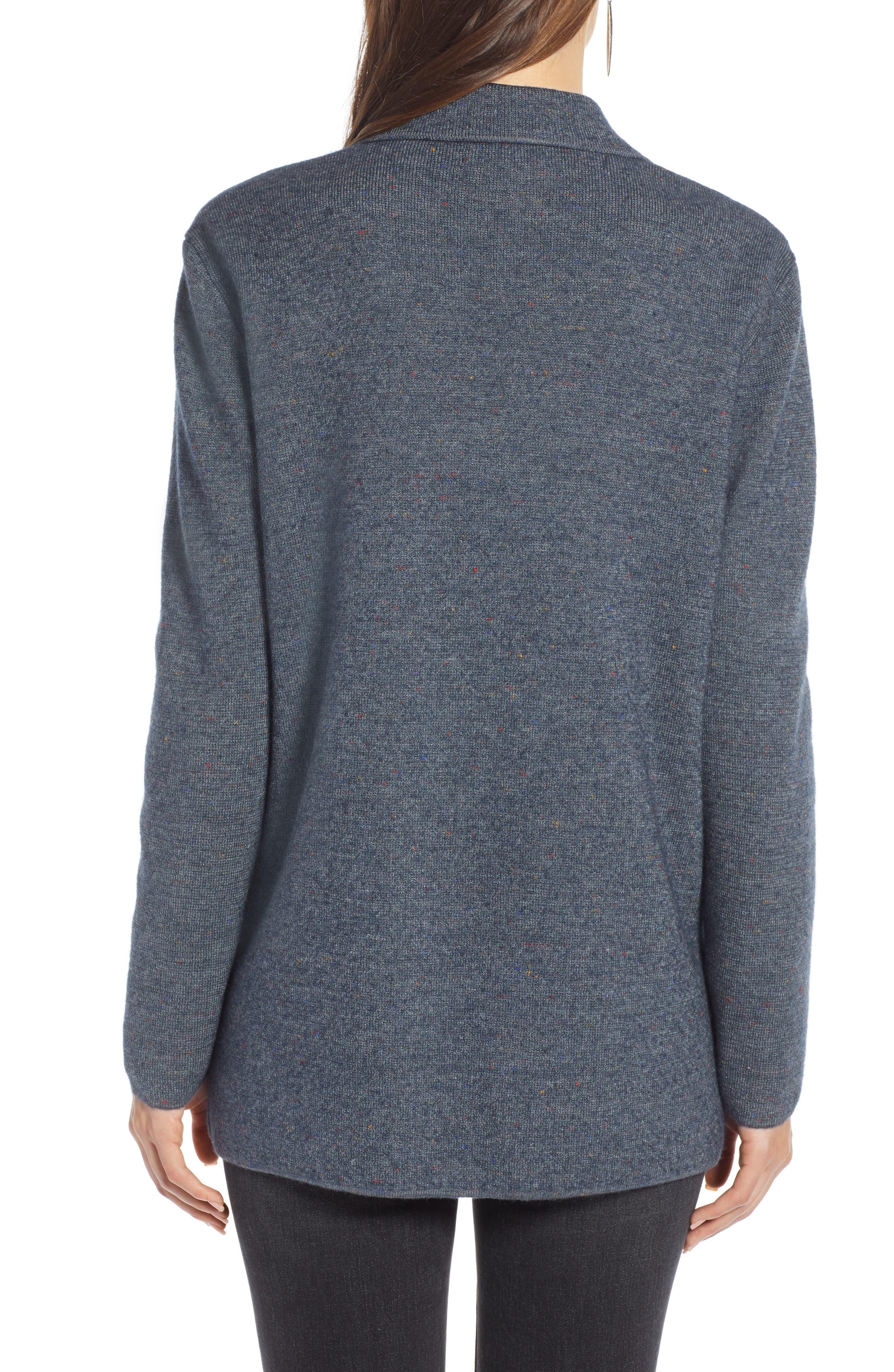 Sweater Blazer,                             Alternate thumbnail 2, color,                             GREY MEDIUM CHARCOAL HEATHER