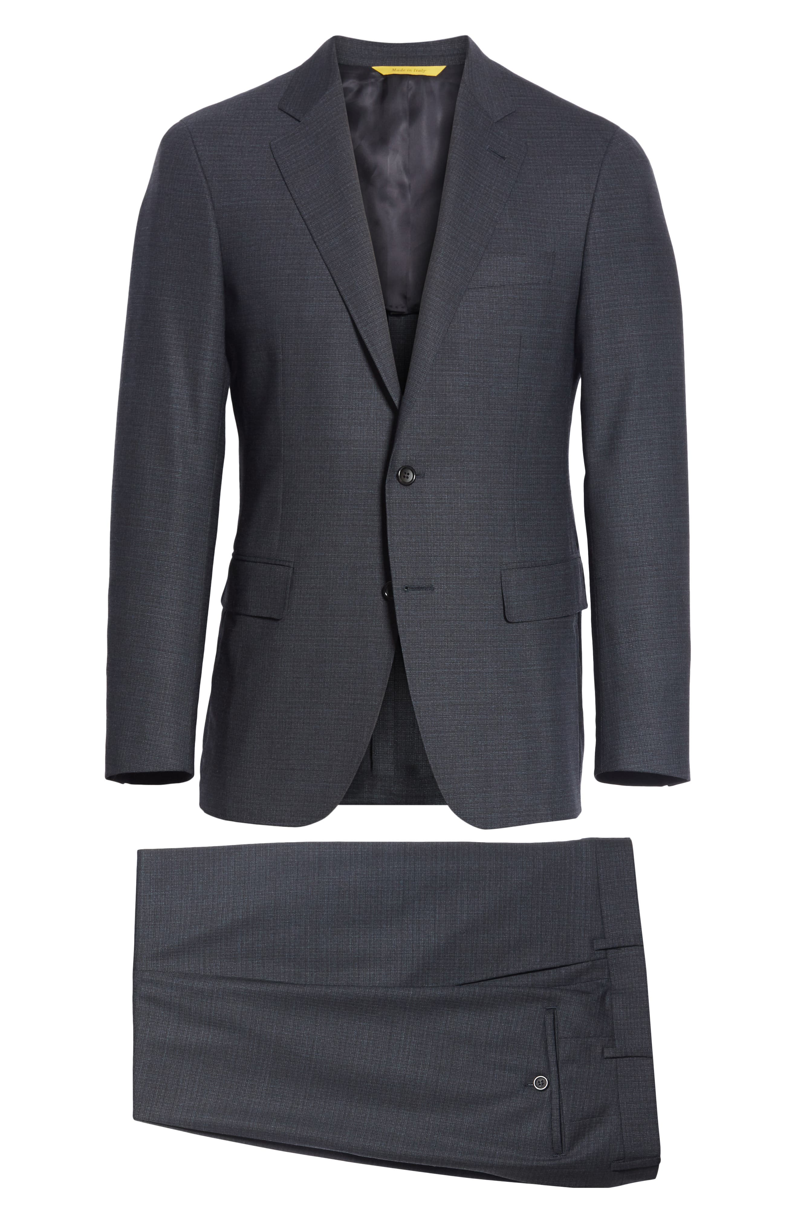CANALI,                             Classic Fit Stretch Check Wool Suit,                             Alternate thumbnail 7, color,                             400