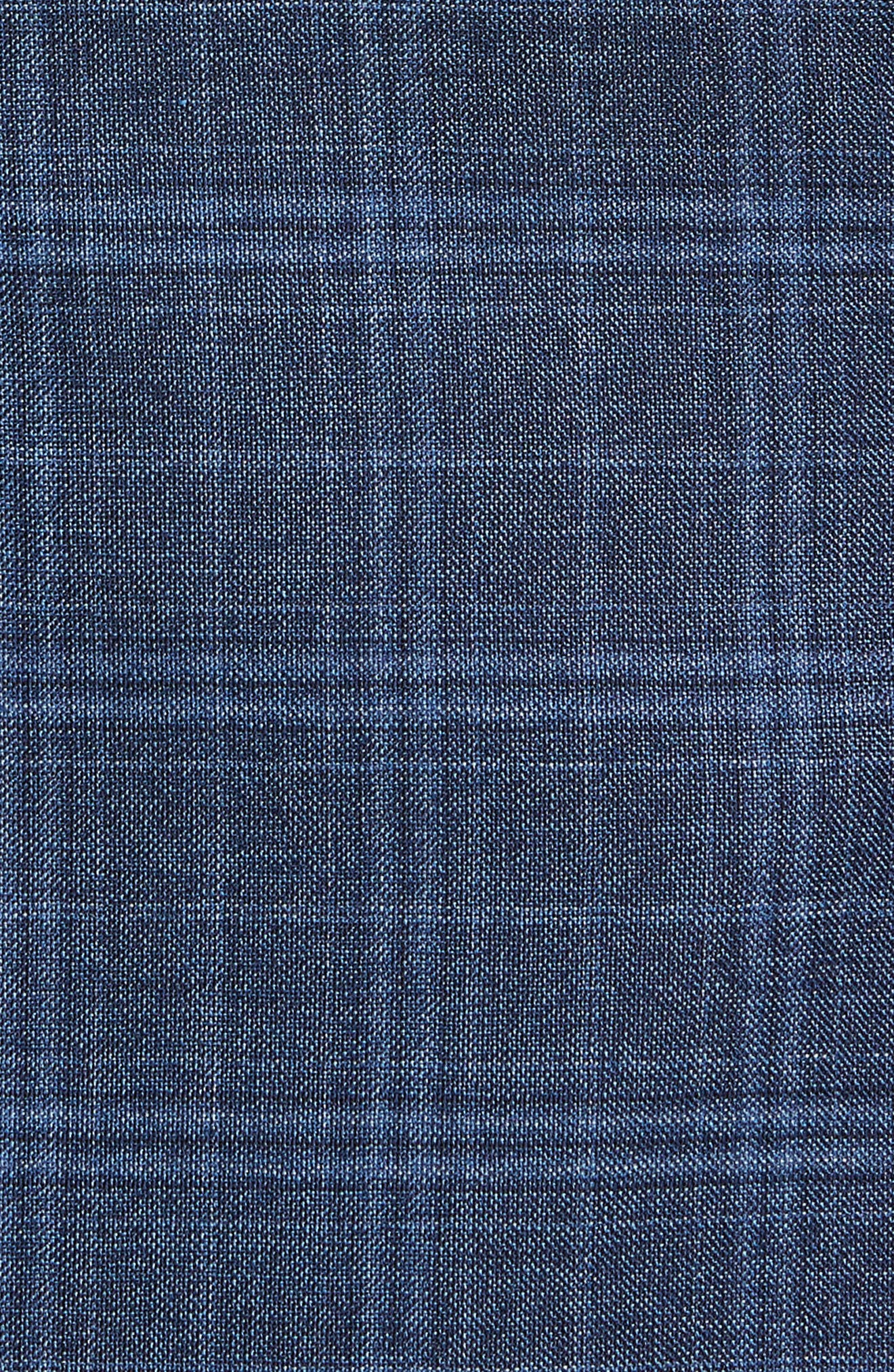 Hutsons Trim Fit Plaid Wool Sport Coat,                             Alternate thumbnail 6, color,                             400