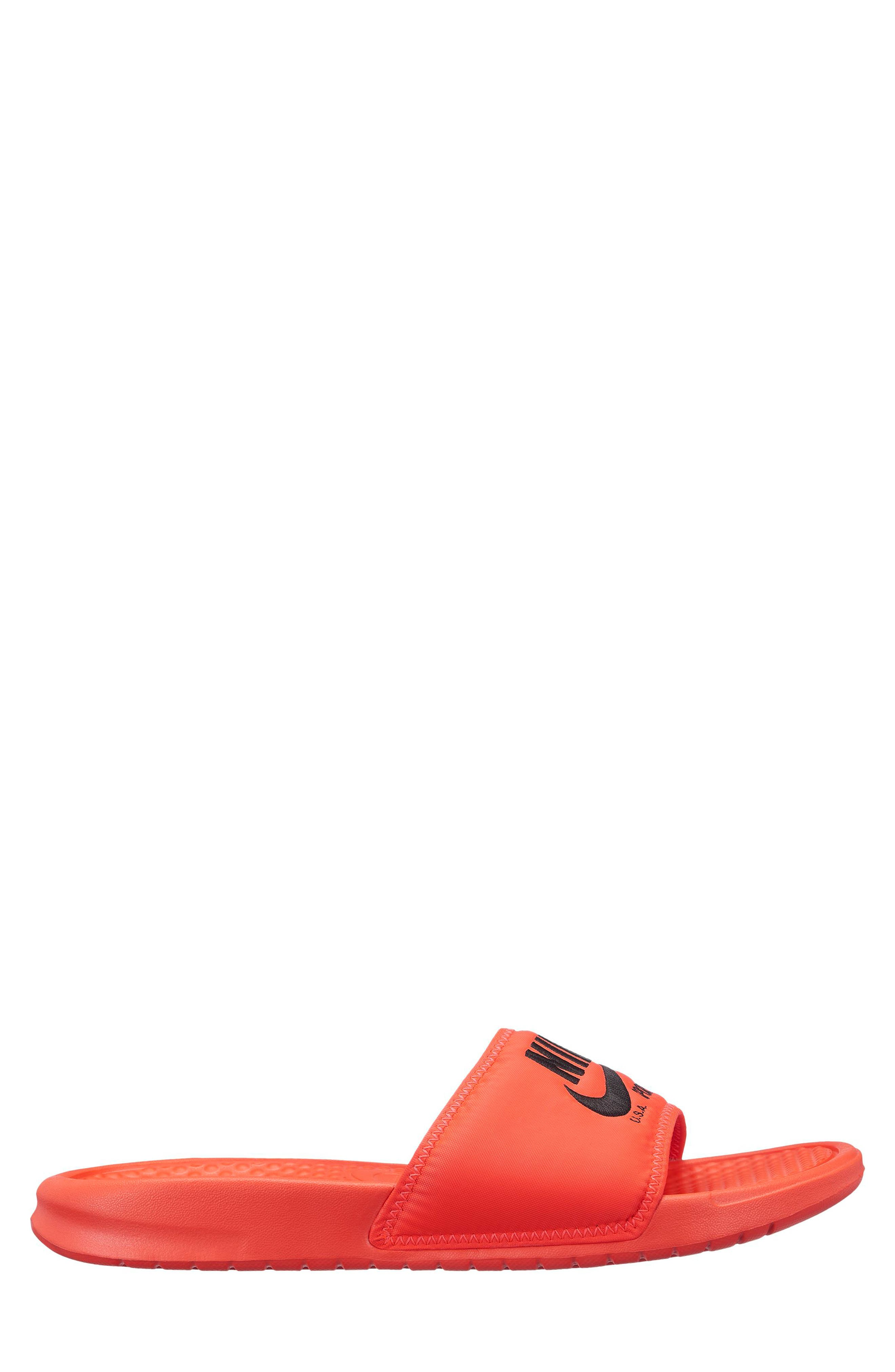 Benassi JDI Slide Sandal,                             Alternate thumbnail 2, color,                             BRIGHT CRIMSON/ BLACK