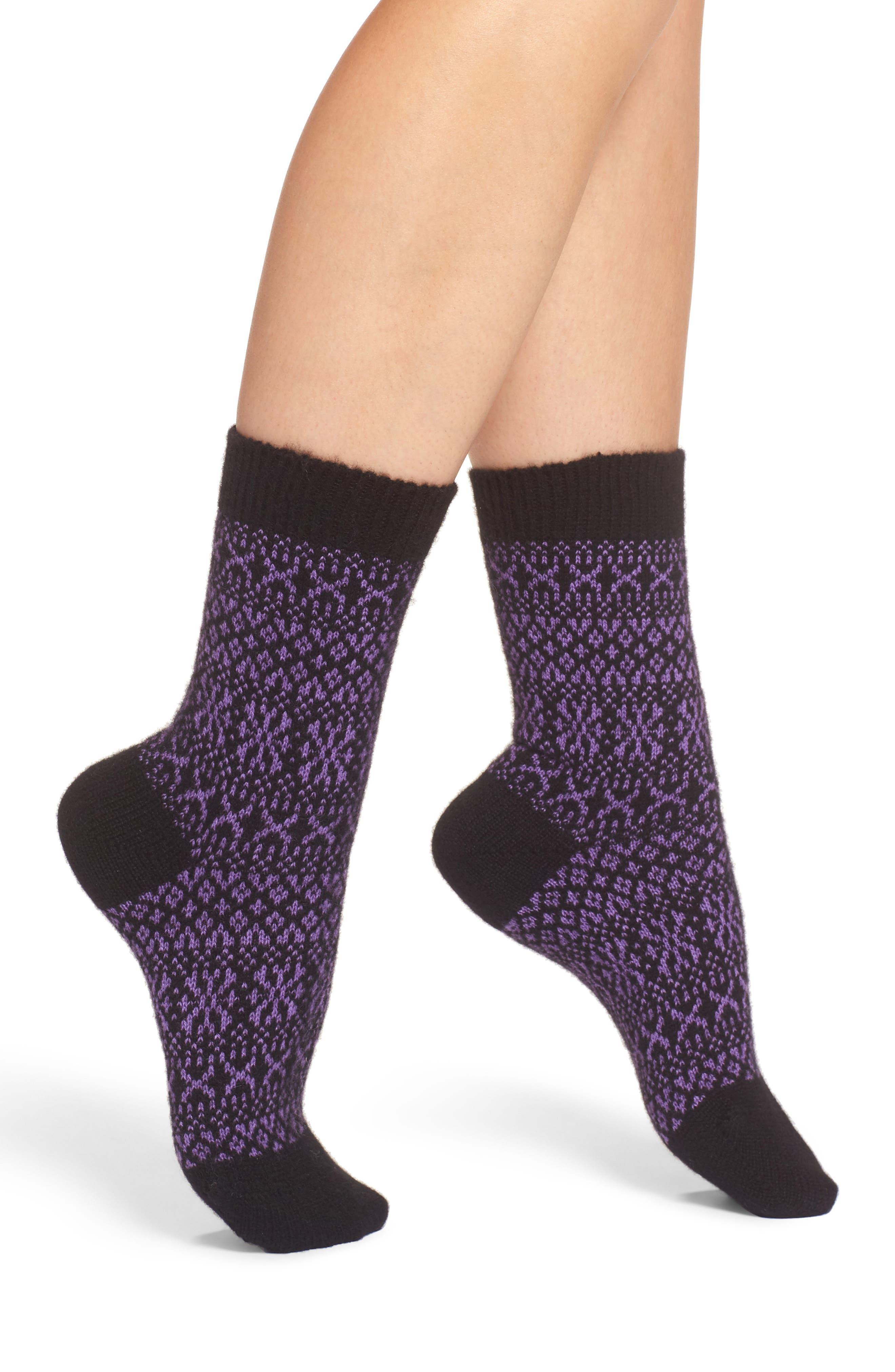 Faith Fair Isle Crew Socks,                         Main,                         color, 001